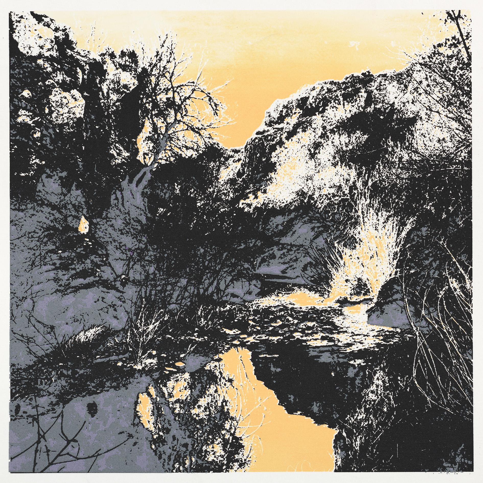 """""""Winter"""" 19,5 x 19,5 cm. silkscreenprint (2016)"""