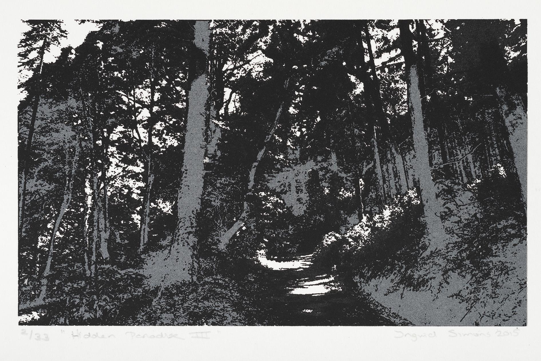 """Hidden Paradise II/III"" 17 x 17 cm. silkscreenprint (2016)"