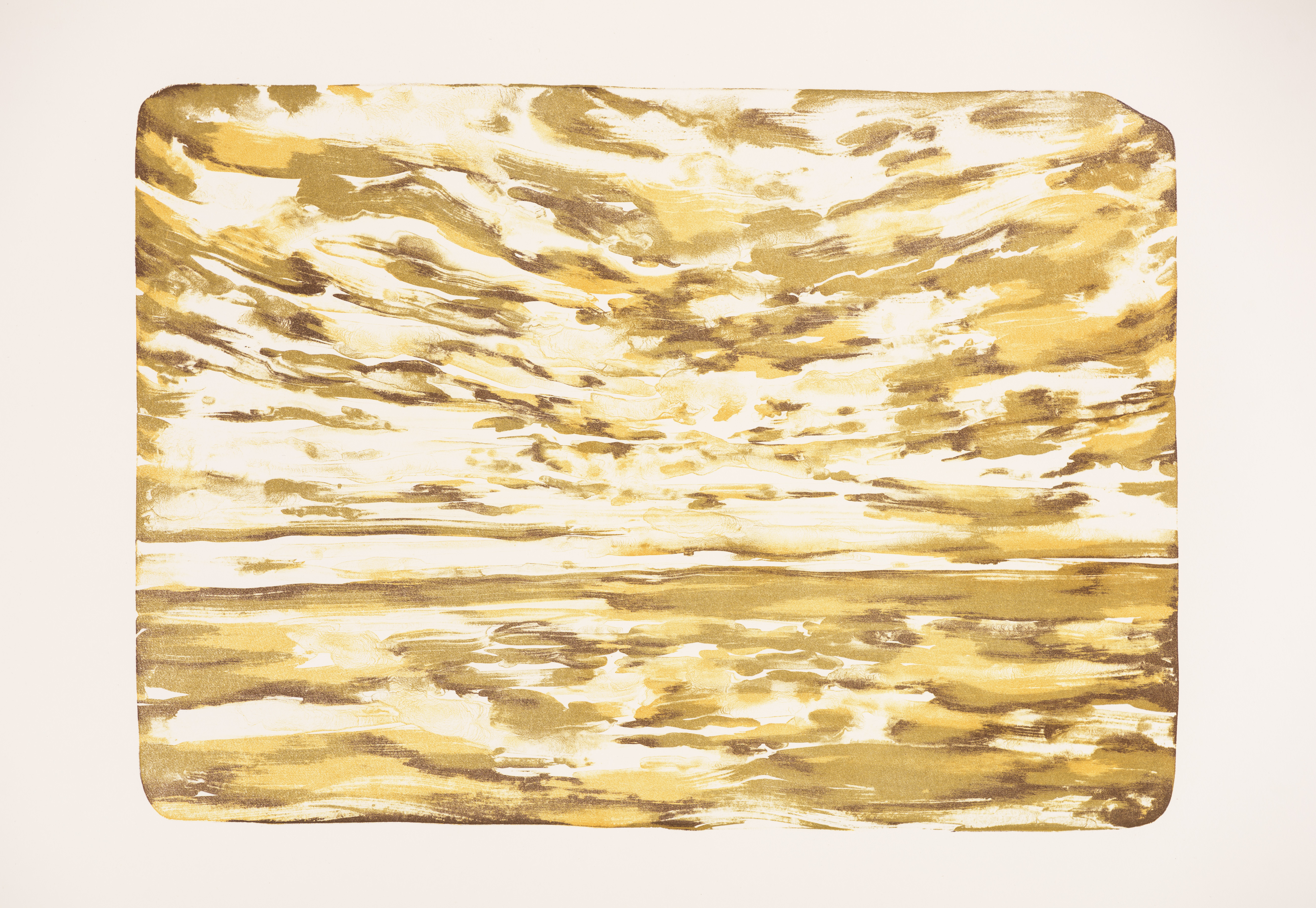 """Goldenen Sonnenuntergang"" 59 x 41,5 cm. lithography, 3 colours (2016)"