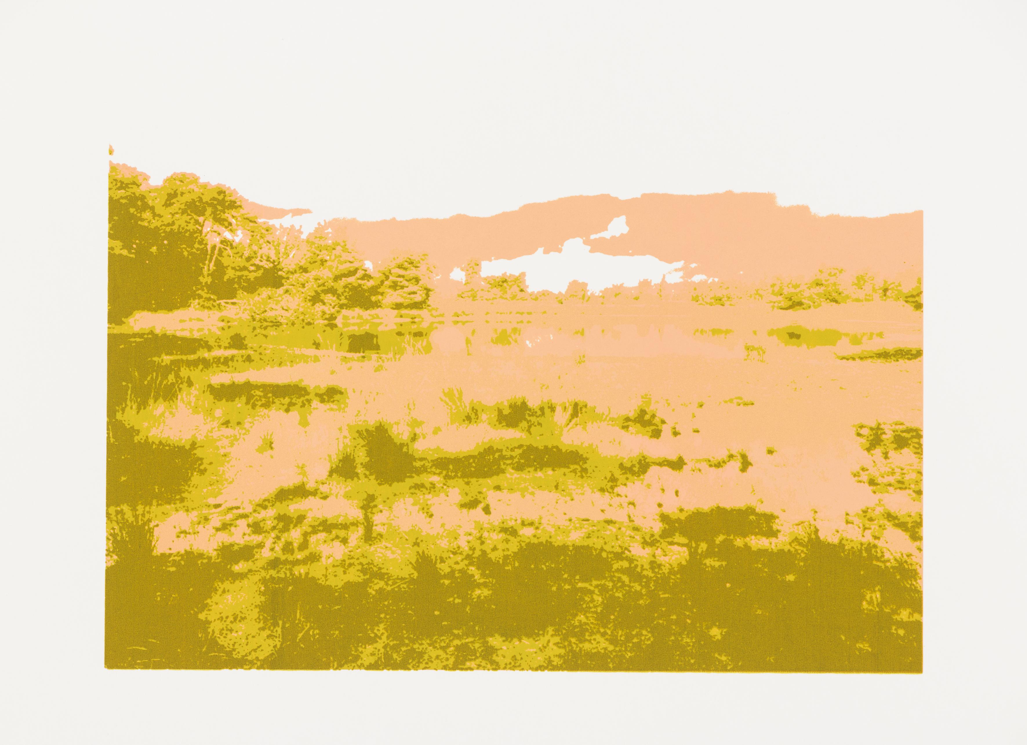 """Oude Buisse Heide"", A4, silkscreenprint (Printed at Beeldenstorm/Daglicht 2018, Special Edition for publication AiR Van GoghHuis)"