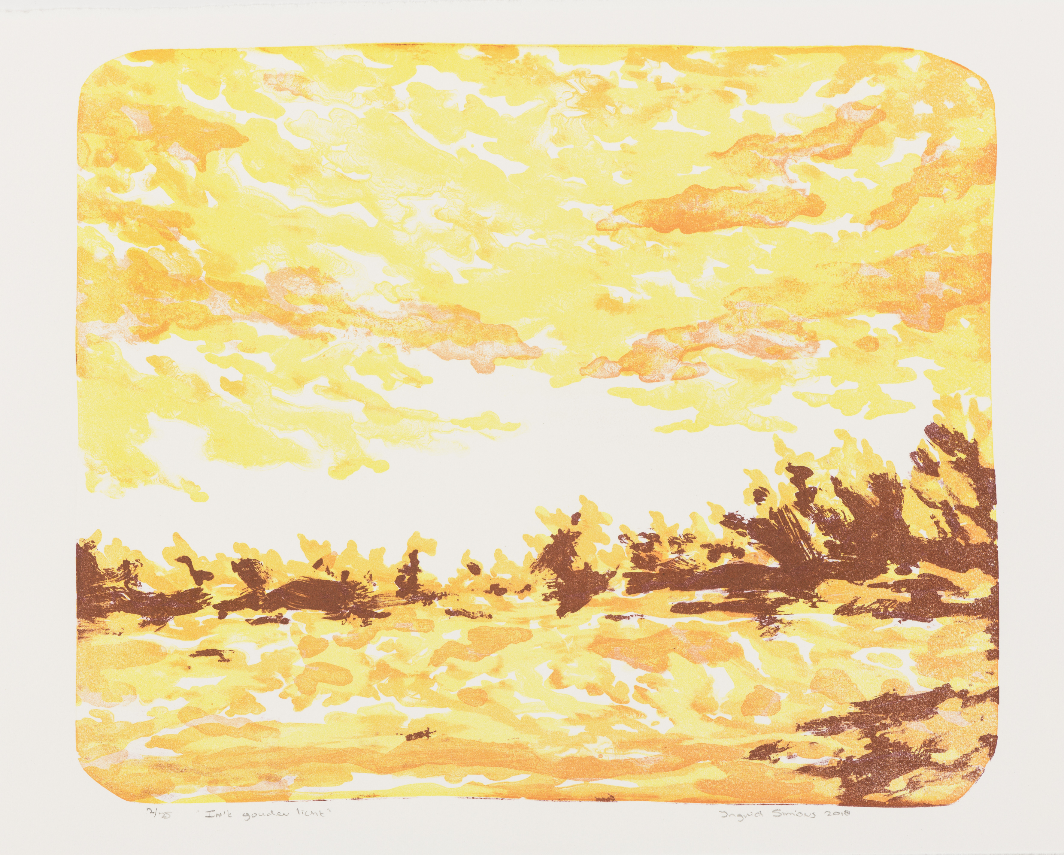 """""""In 't Gouden Licht"""", A4, litho (Printed in Berlin 2018, Special Edition for publication AiR Van GoghHuis)"""