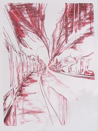 """Eo tempore Anni II"" 110 x 70 cm. lithography 3 colours (2011)"