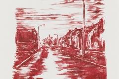 """""""Silentio Noctis II"""" 35 x 25,5 cm. lithography (2009)"""