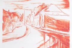 """""""Eo tempore Anni I"""" 110 x 70 cm. lithography 3 colours (2011)"""