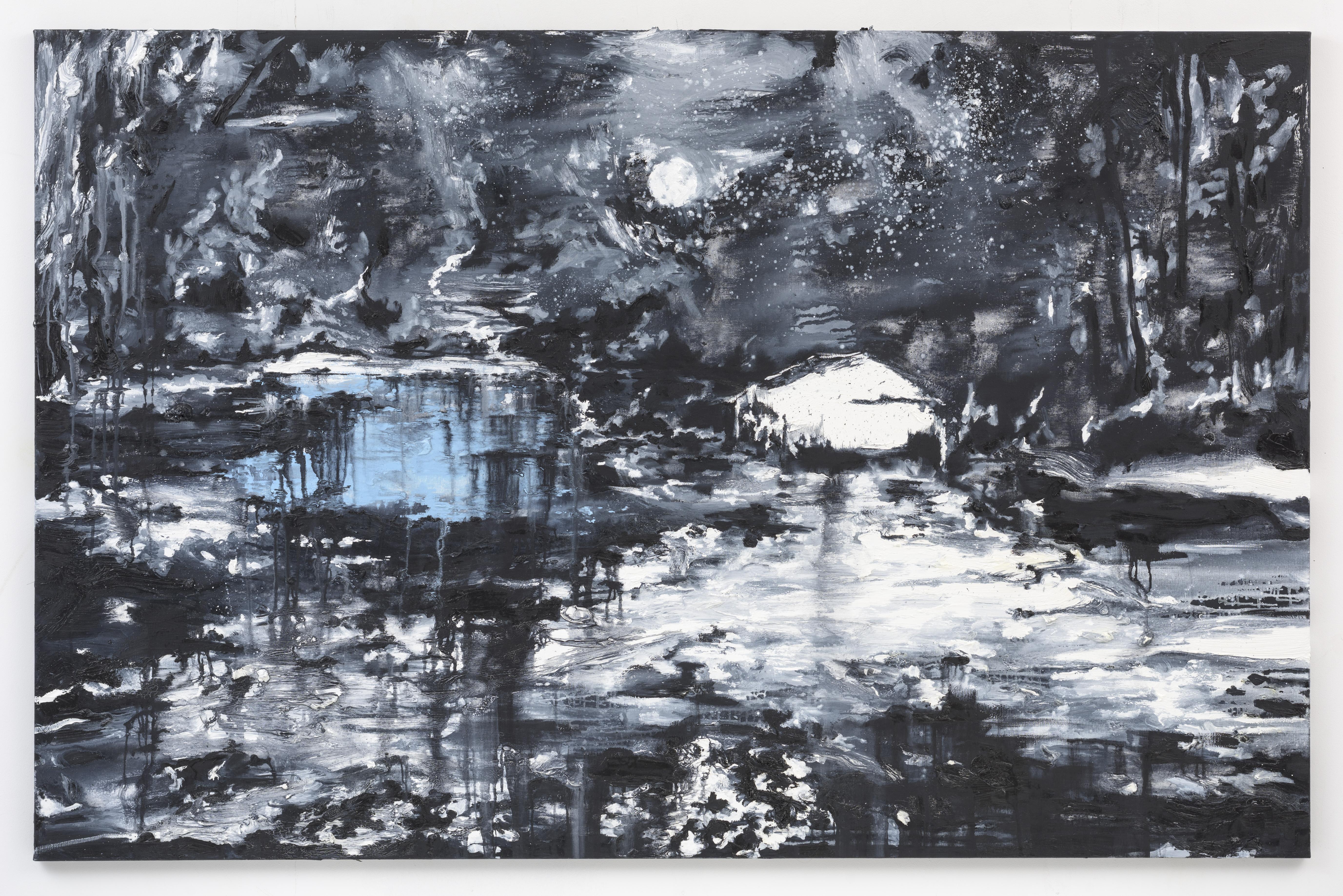 """Noite da Lua Cheia"", 130 x 200 cm. oil on linen 2016 (Portugal)"