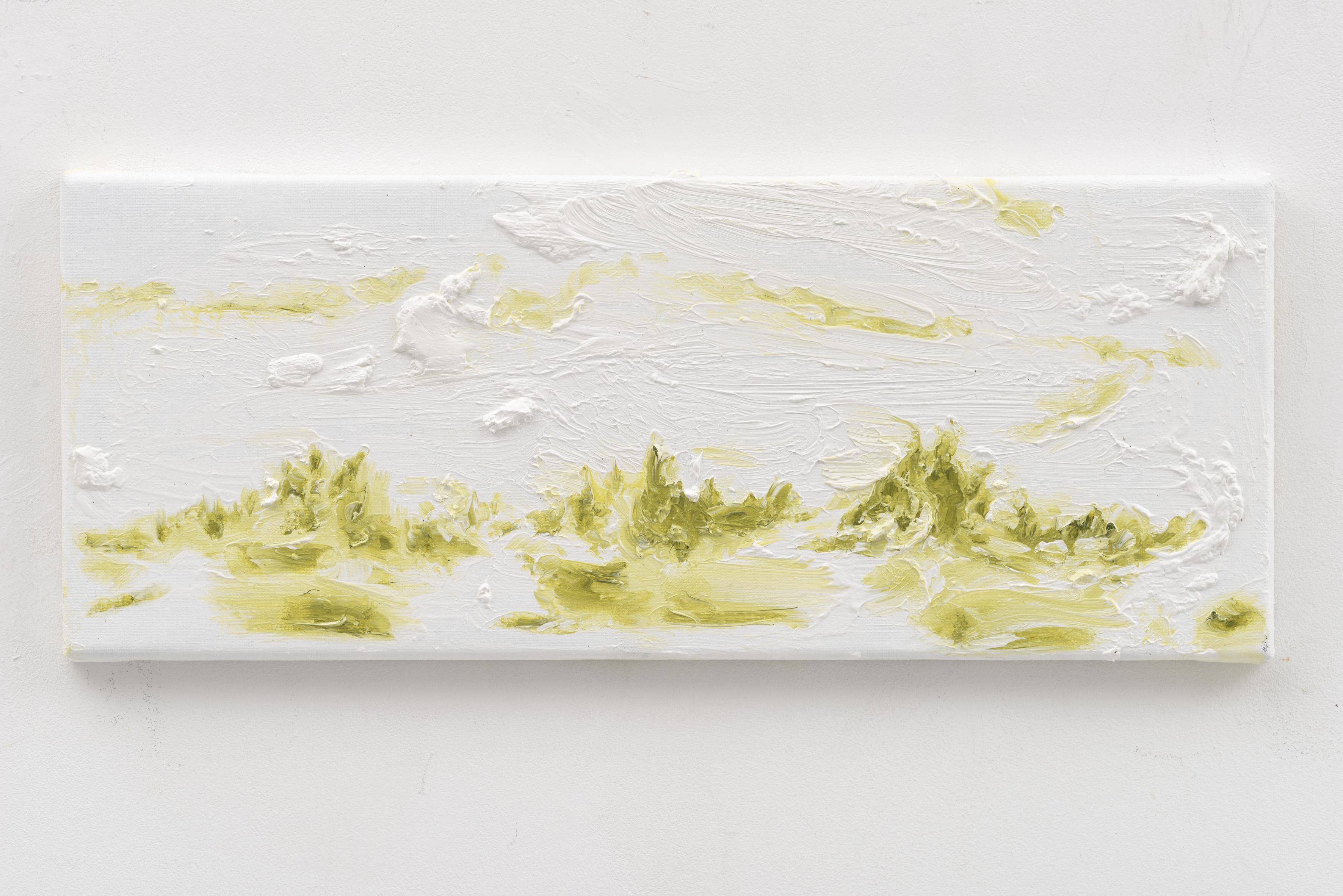 """Resonating Landscapes VIII"" 20 x 50 cm. oil on linen 2017"