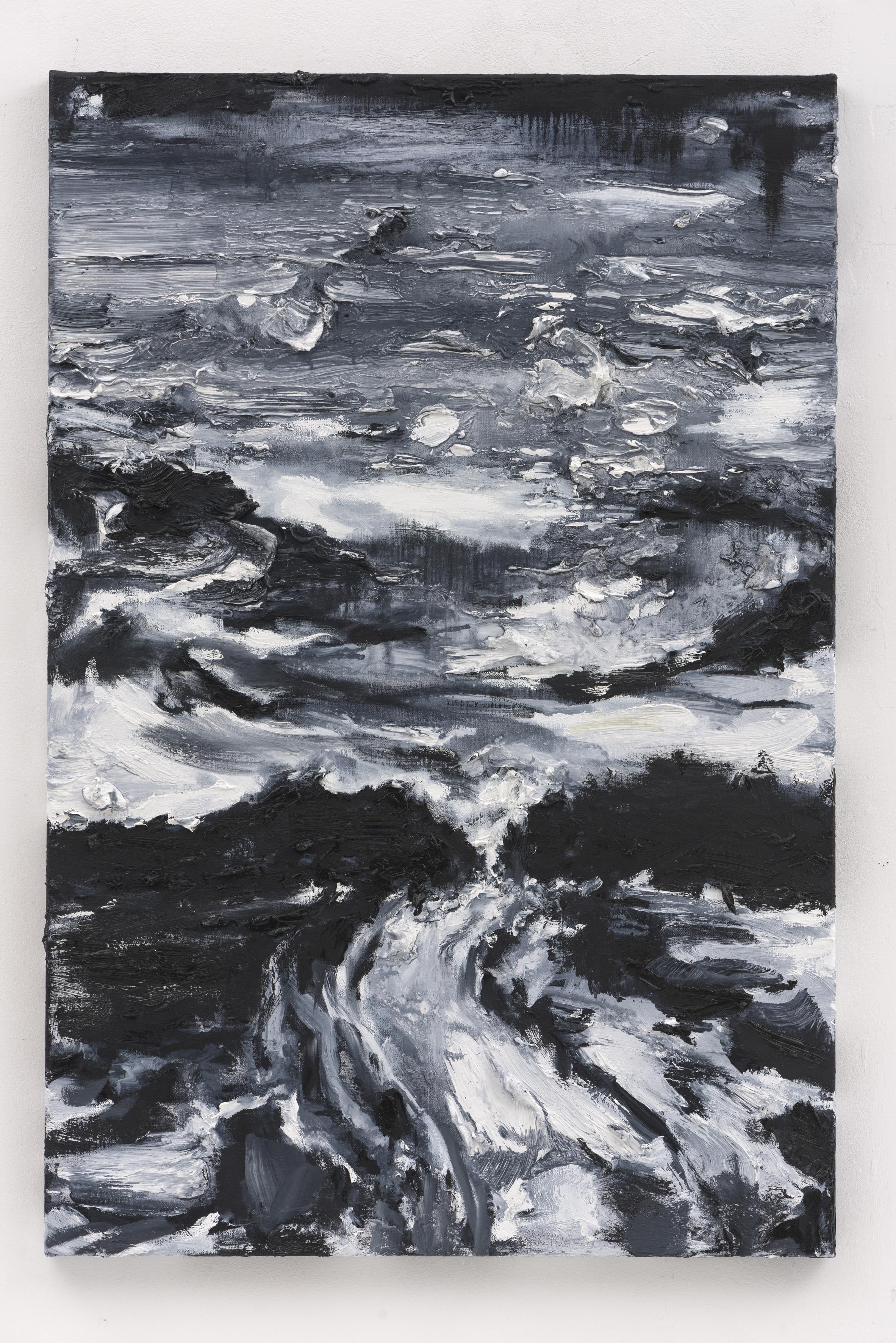 """""""A Luz na Noite Escura III"""", 90 x 60 cm., oil on linen 2017 (Portugal)"""