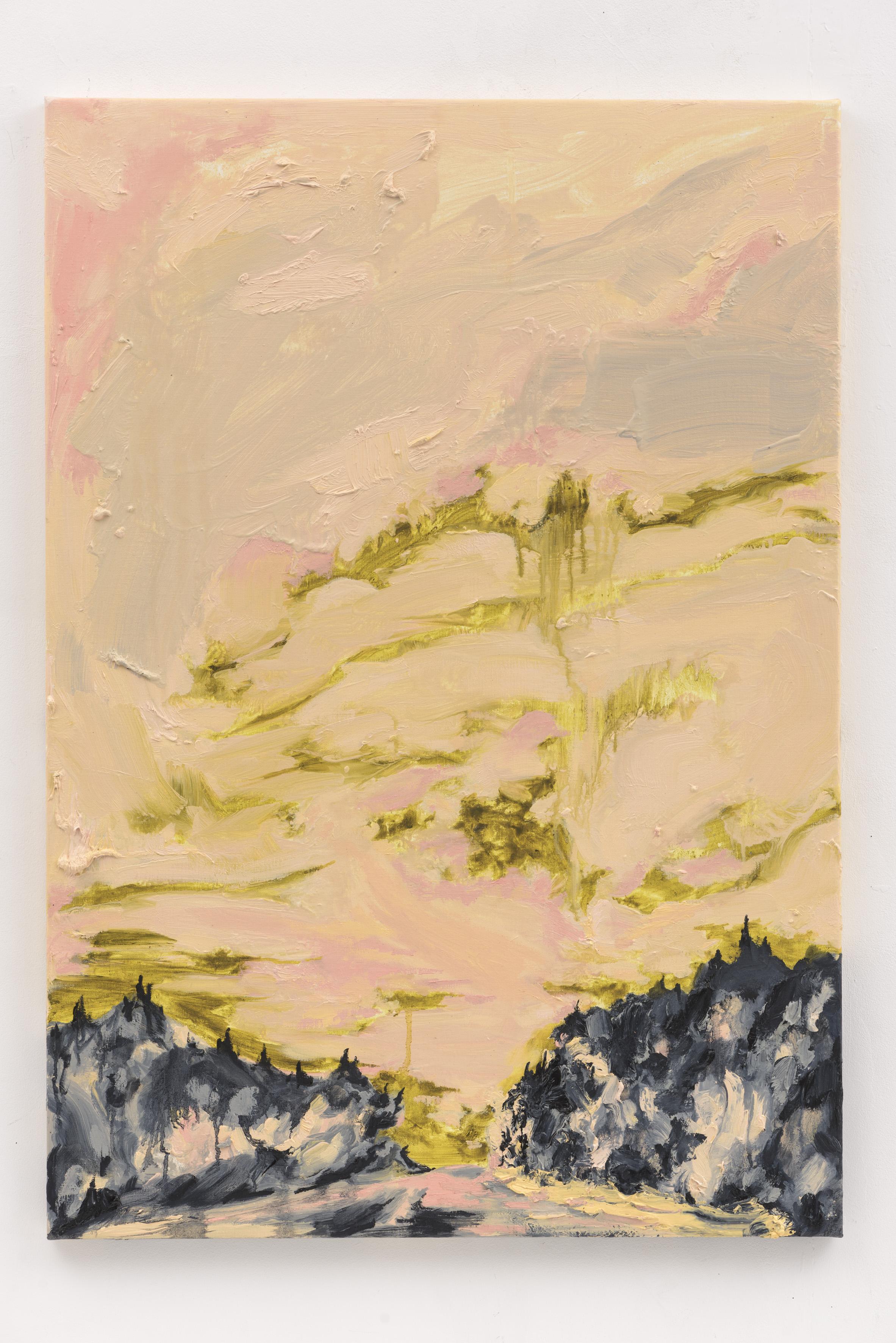 """Eternal Dawn I"", 100 x 70 cm., oil on linen 2017 (Portugal)"