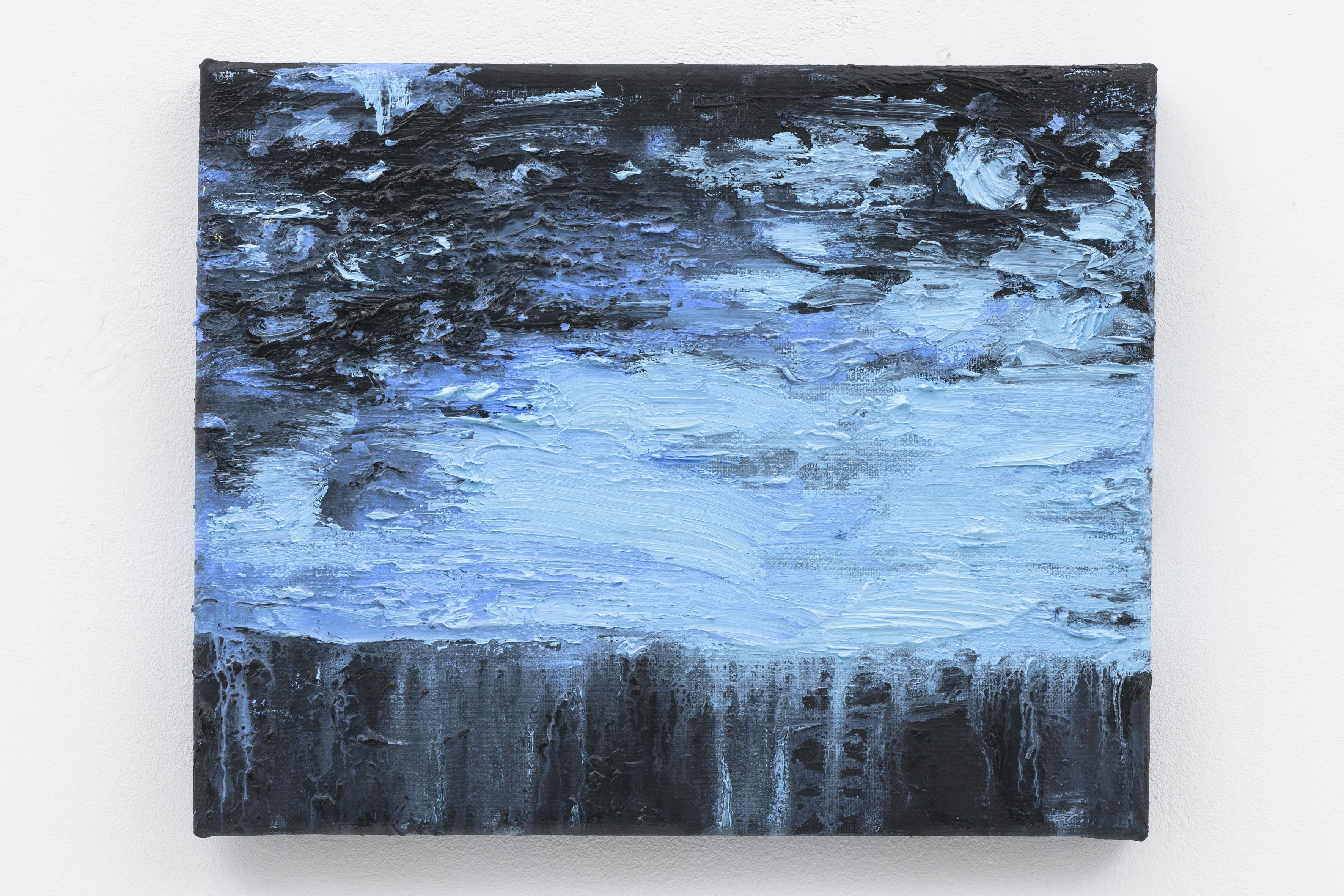 """""""Blauwe Nacht"""" 24 x 30 cm. oil on linen 2017 (Air Van GoghHuis)"""