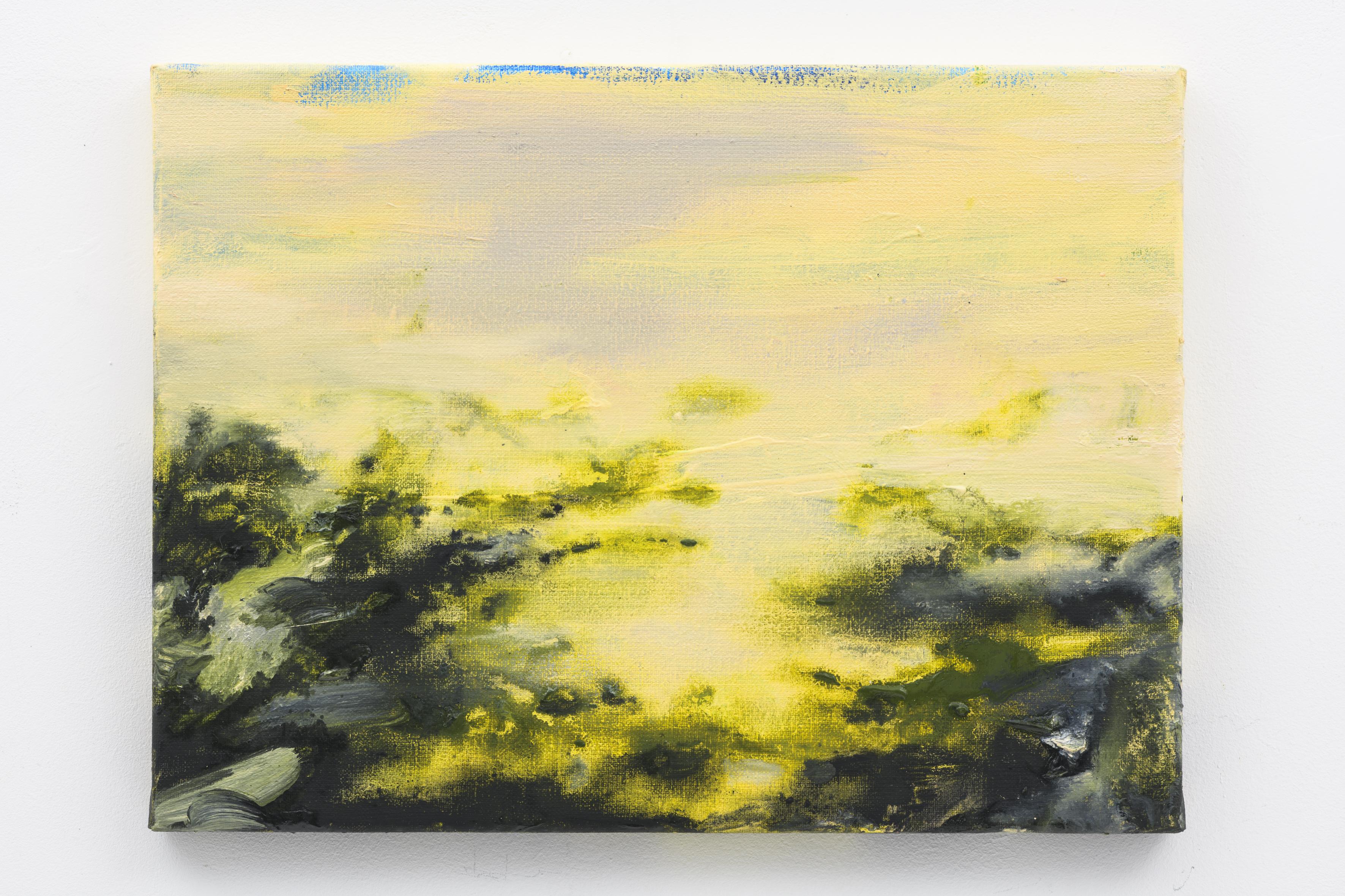 """""""Herfstlicht II"""" 30 x 40 cm. oil on linen 2017 (Air Van GoghHuis)"""