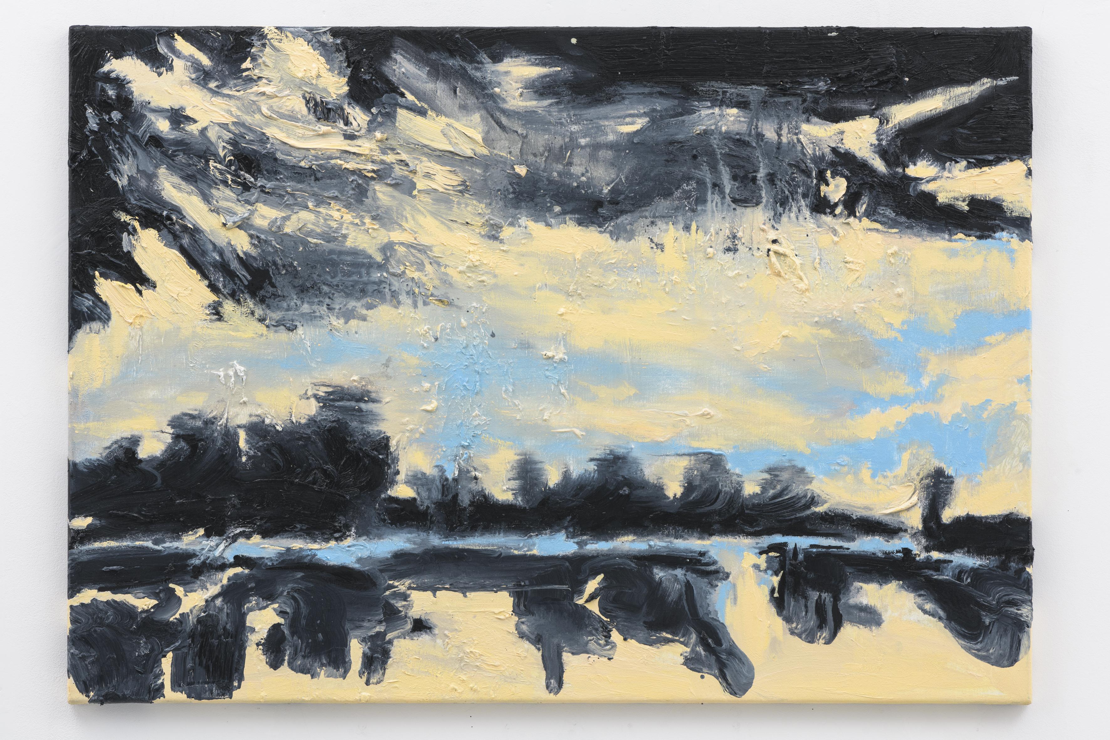 """Mirrored Waters IV"", 70 x 100 cm., oil on linen 2017 (Van Gogh)"