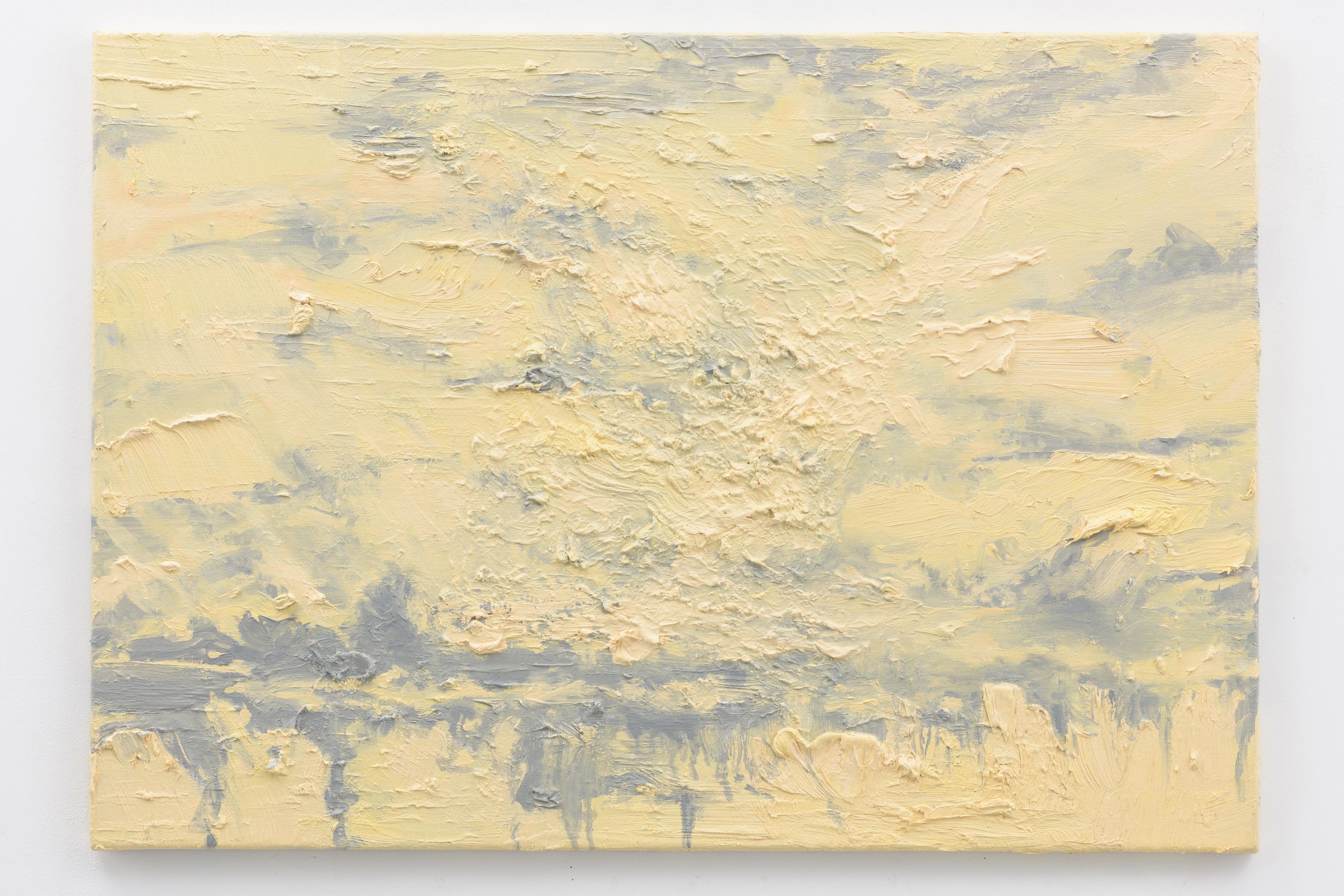 """Mirrored Waters V"", 70 x 100 cm., oil on linen 2017 (Van Gogh)"
