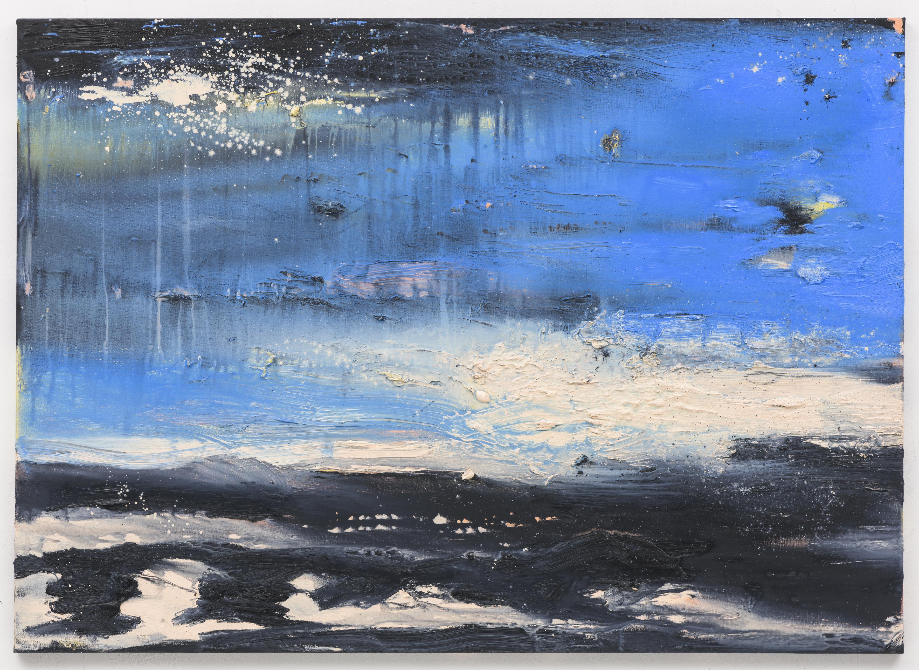 """Becalmed"", 100 x 140 cm. oil on linen 2018 (Berlin)"