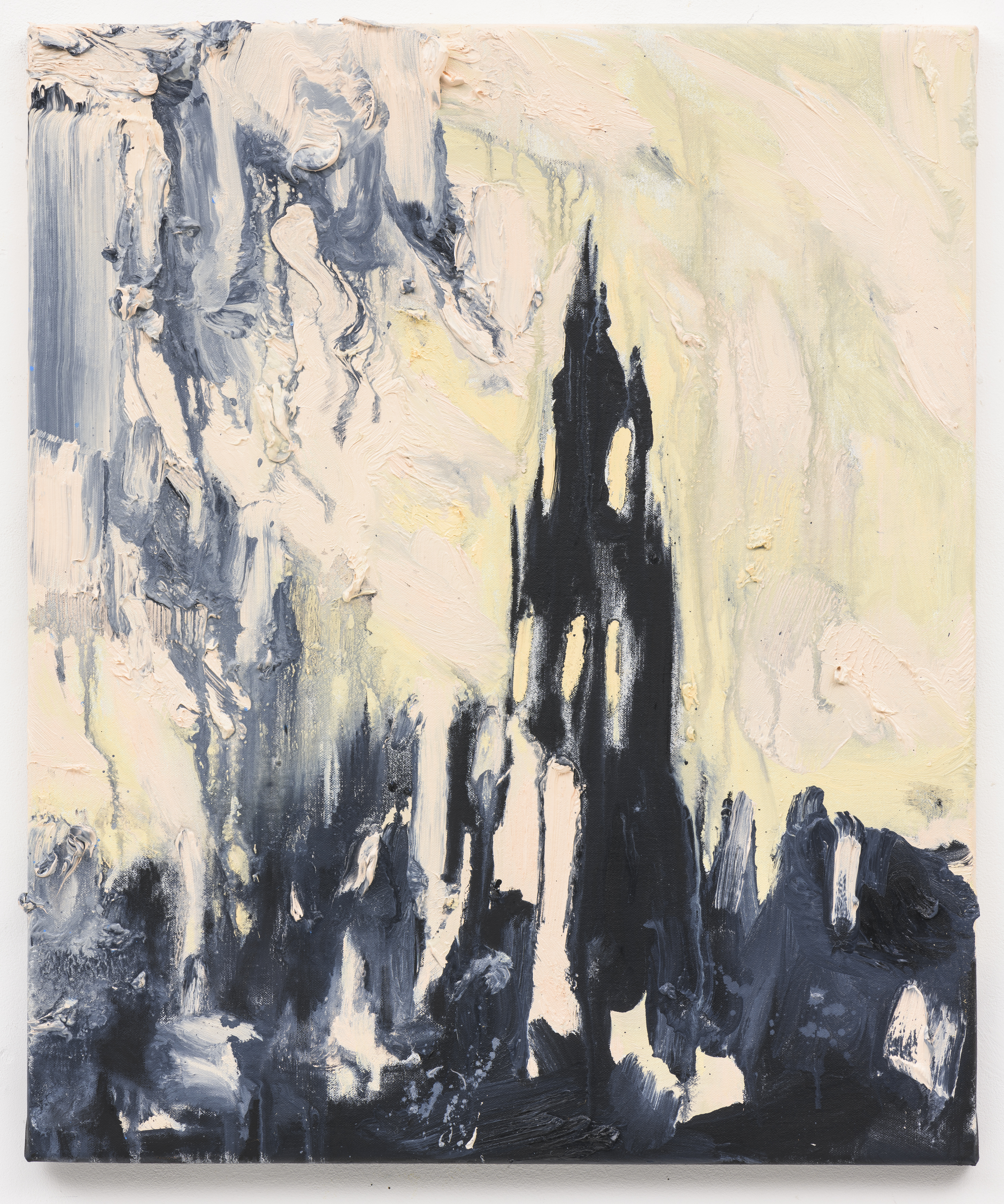 """Sichtbare Vergangenheit II"", 60 x 50 cm. oil on linen 2018 (Berlin)"