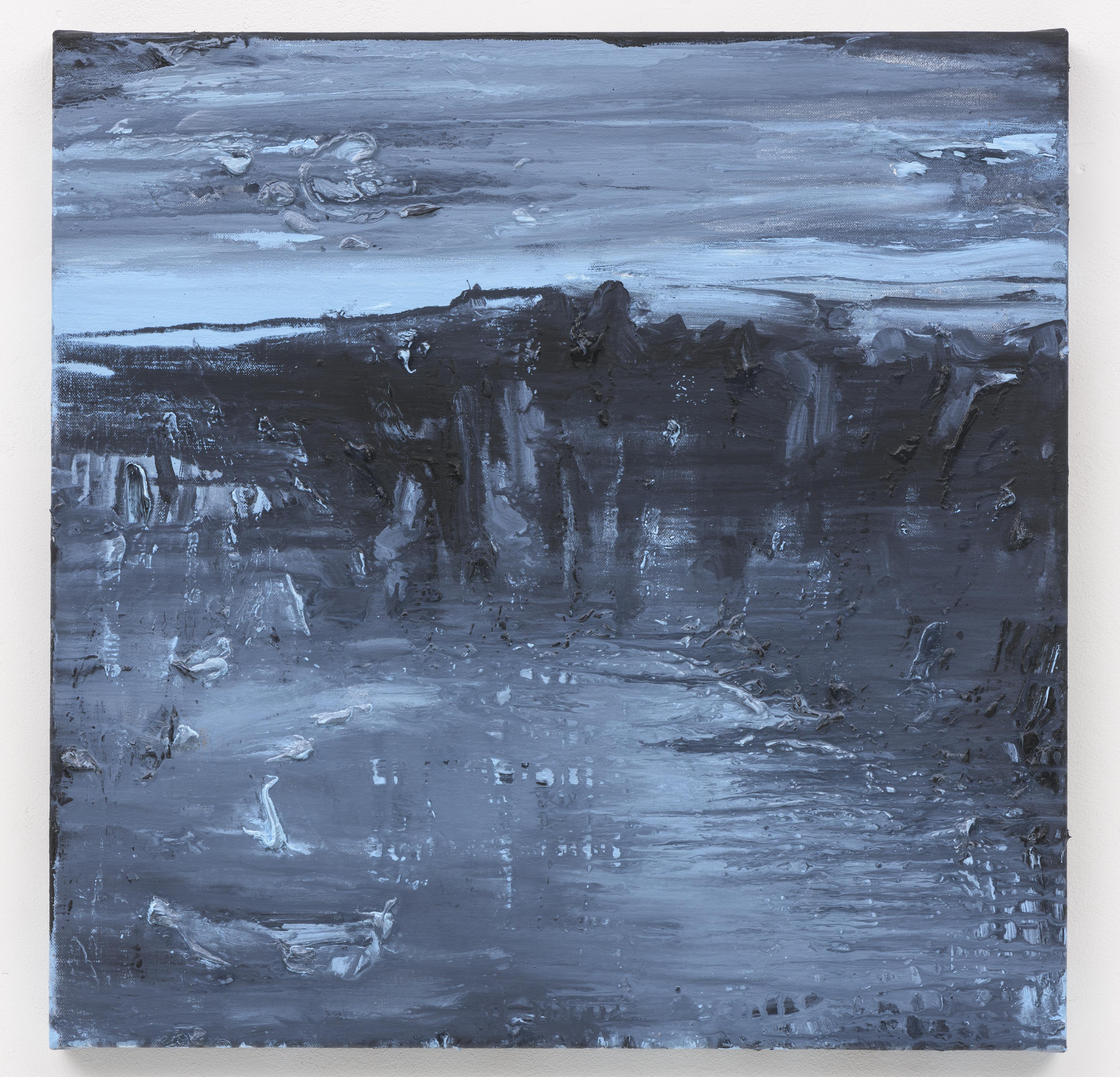 """A Hora Azul II"" 50 x 50 cm. oil on linen 2018 (Portugal)"