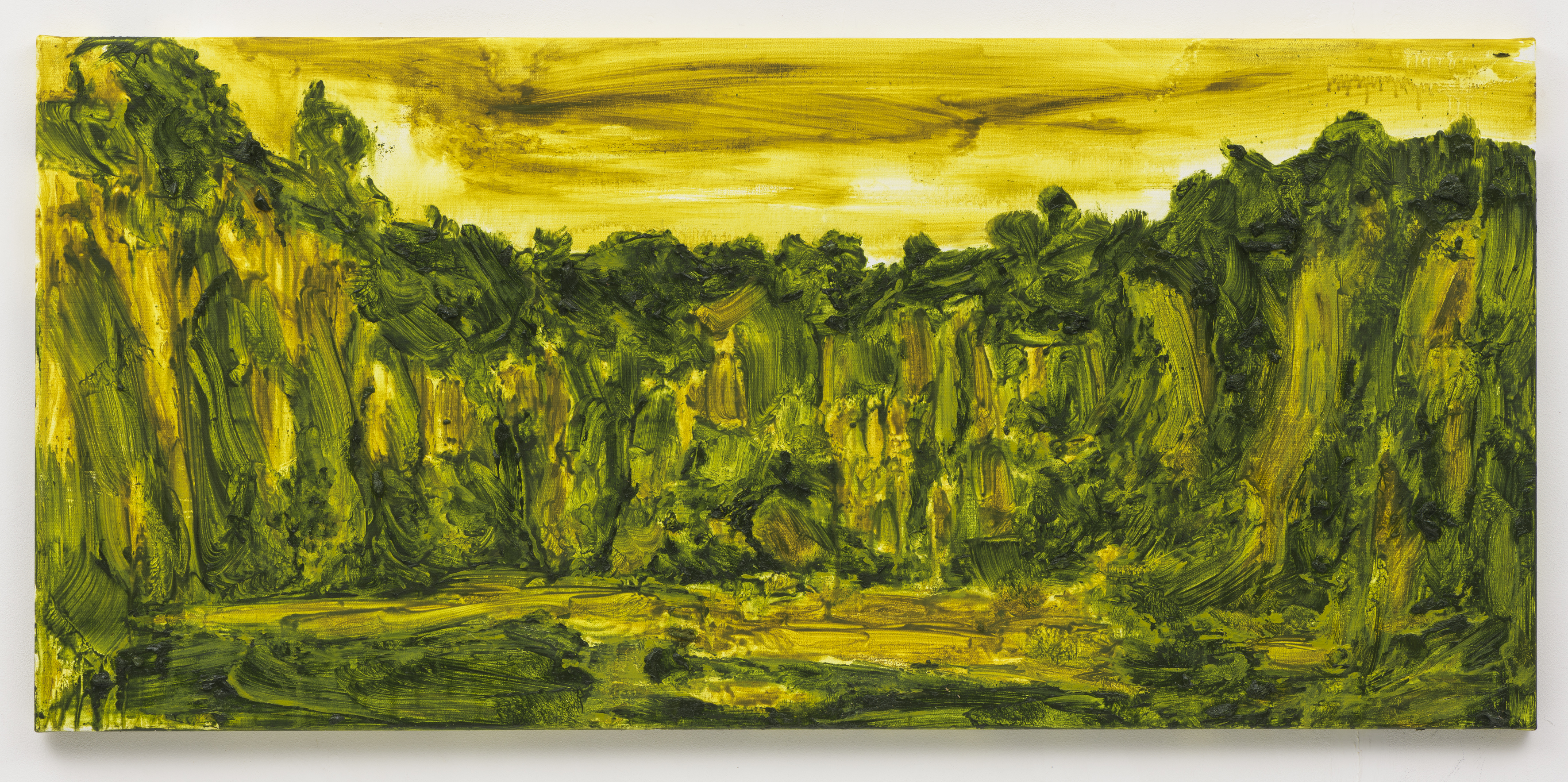"""""""Pedreira dos Passaros"""", 60 x 130 cm., oil on linen 2018 (Portugal)"""