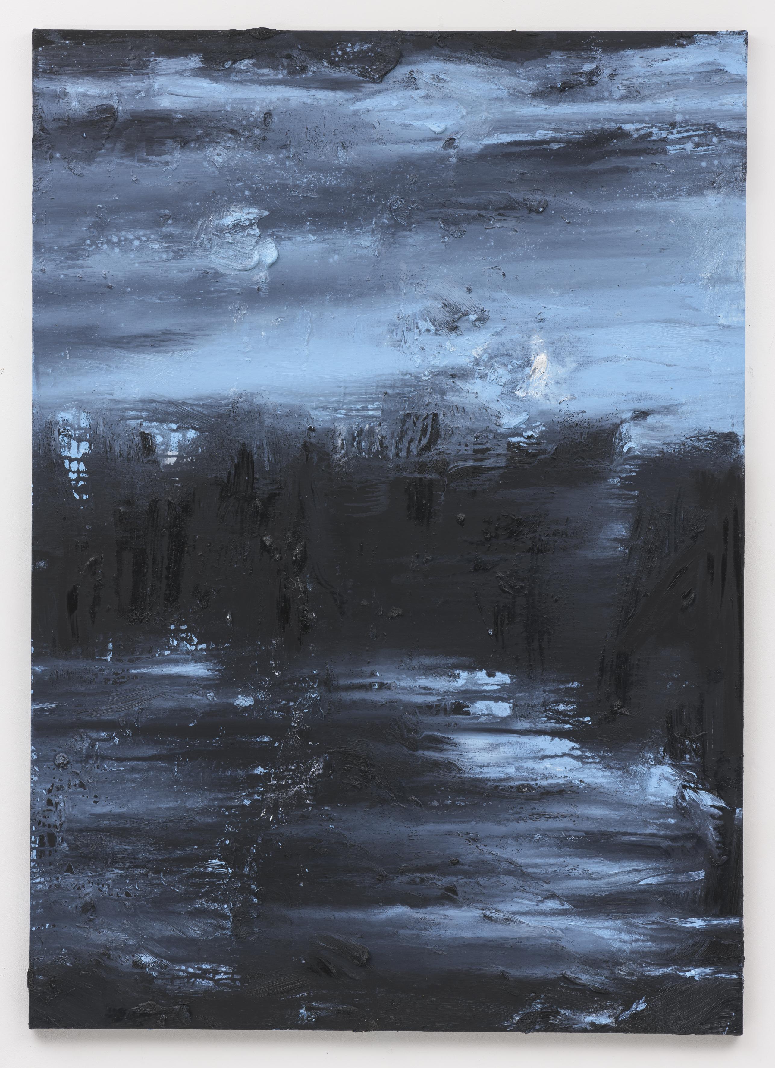"""""""Hora Azul"""" 140 x 100 cm. oil on linen 2018 (Portugal)"""