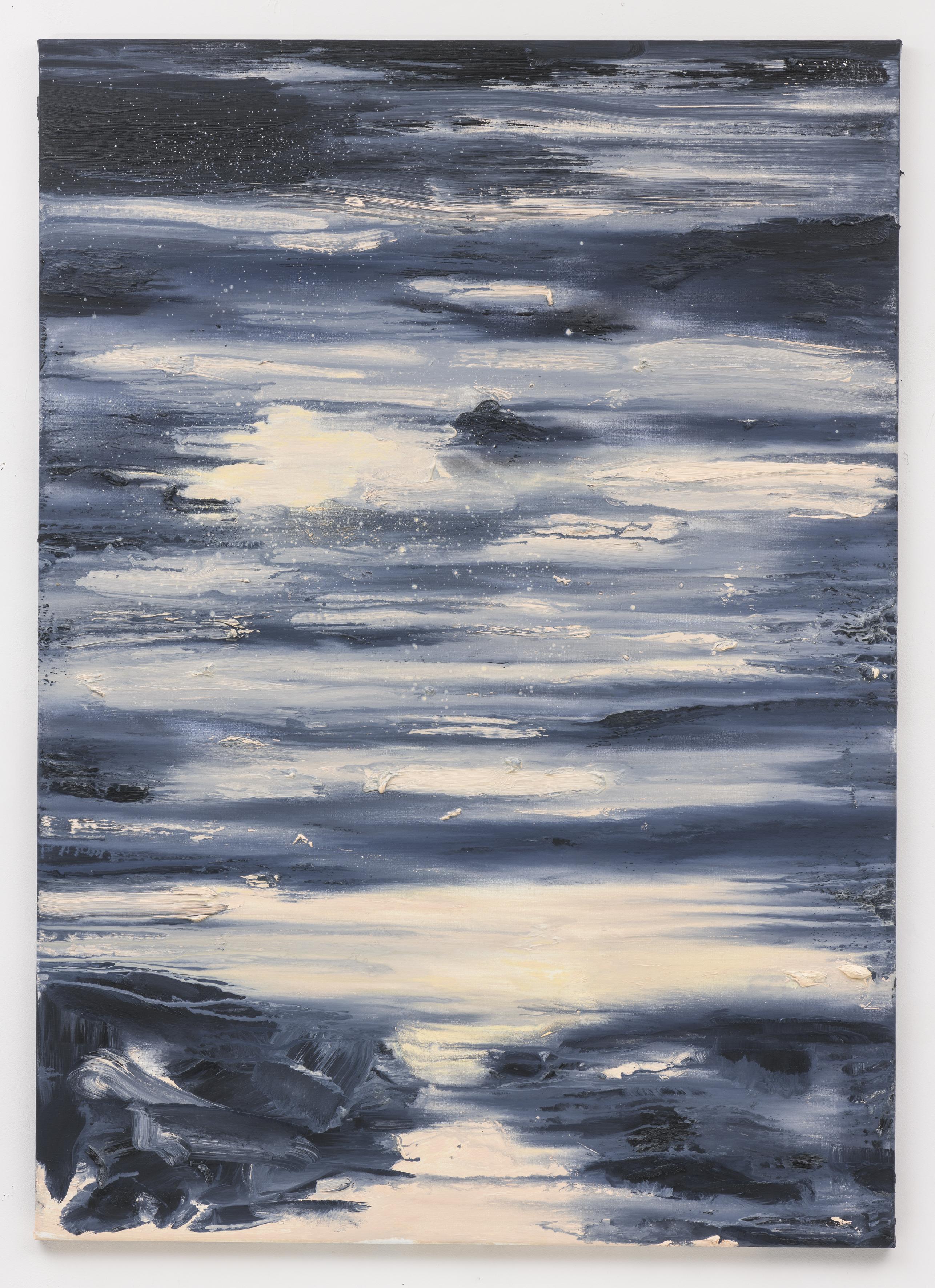 """Sun Down"" 140 x 100 cm. oil on linen 2018 (Portugal)"