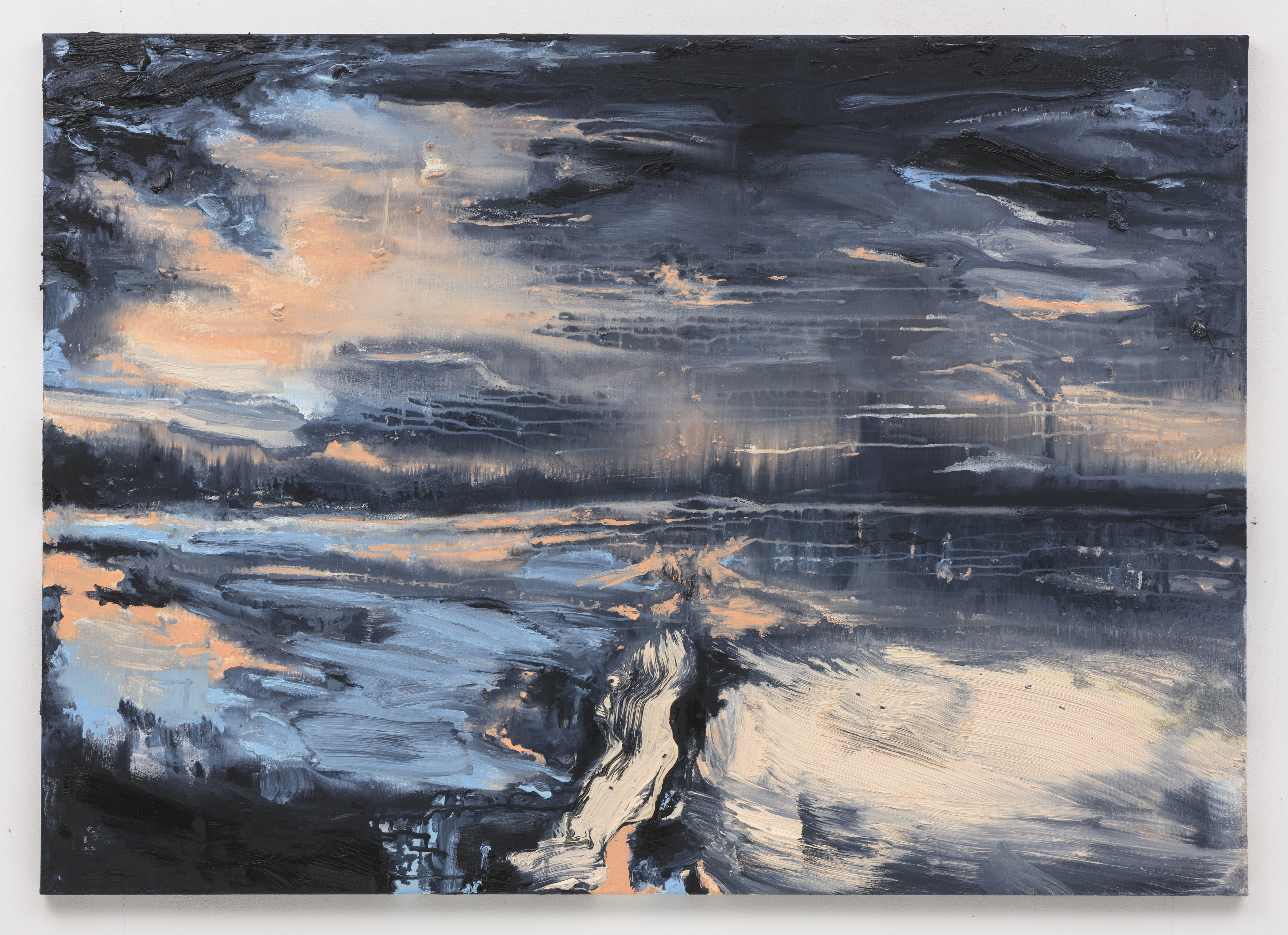 """""""Road to Nowhere"""", 100 x 140 cm., oil on linen 2018 (Portugal)"""