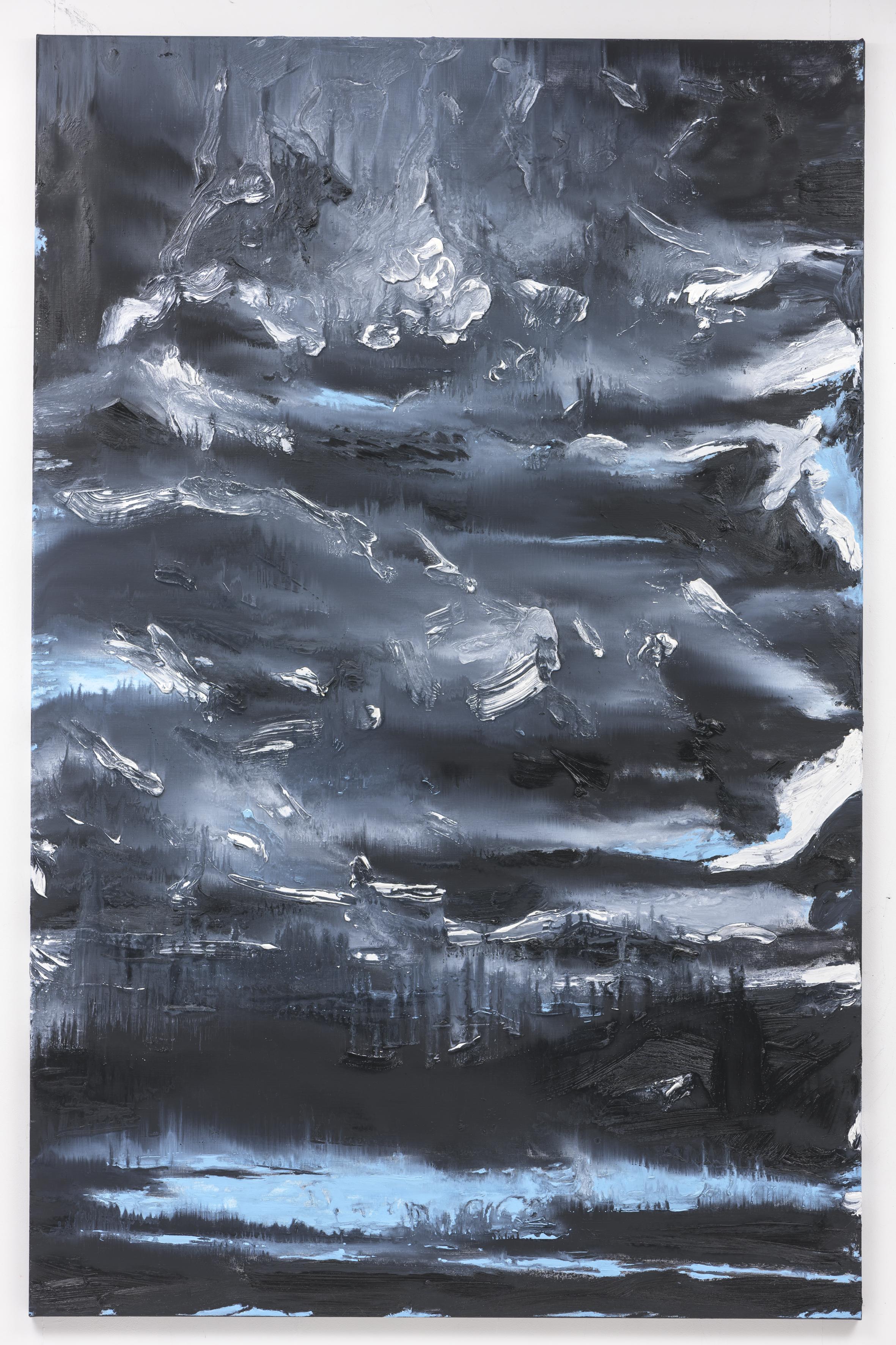 """""""Am Groszen Wannsee"""", 200 x 130 cm. oil on linen 2018 (Berlin)"""