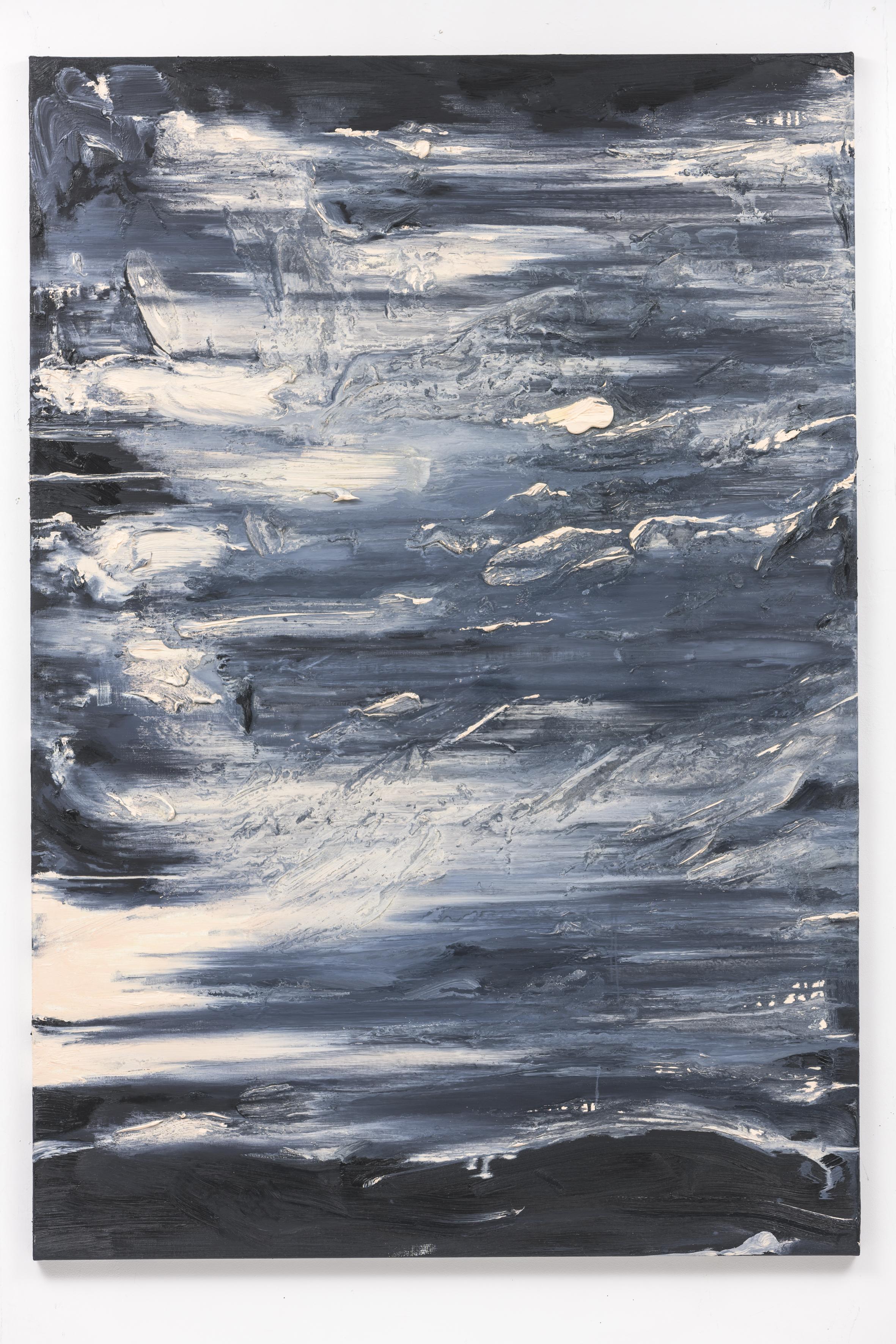 """""""Dämmerung I"""", 160 x 110 cm. oil on linen 2018 (Berlin)"""