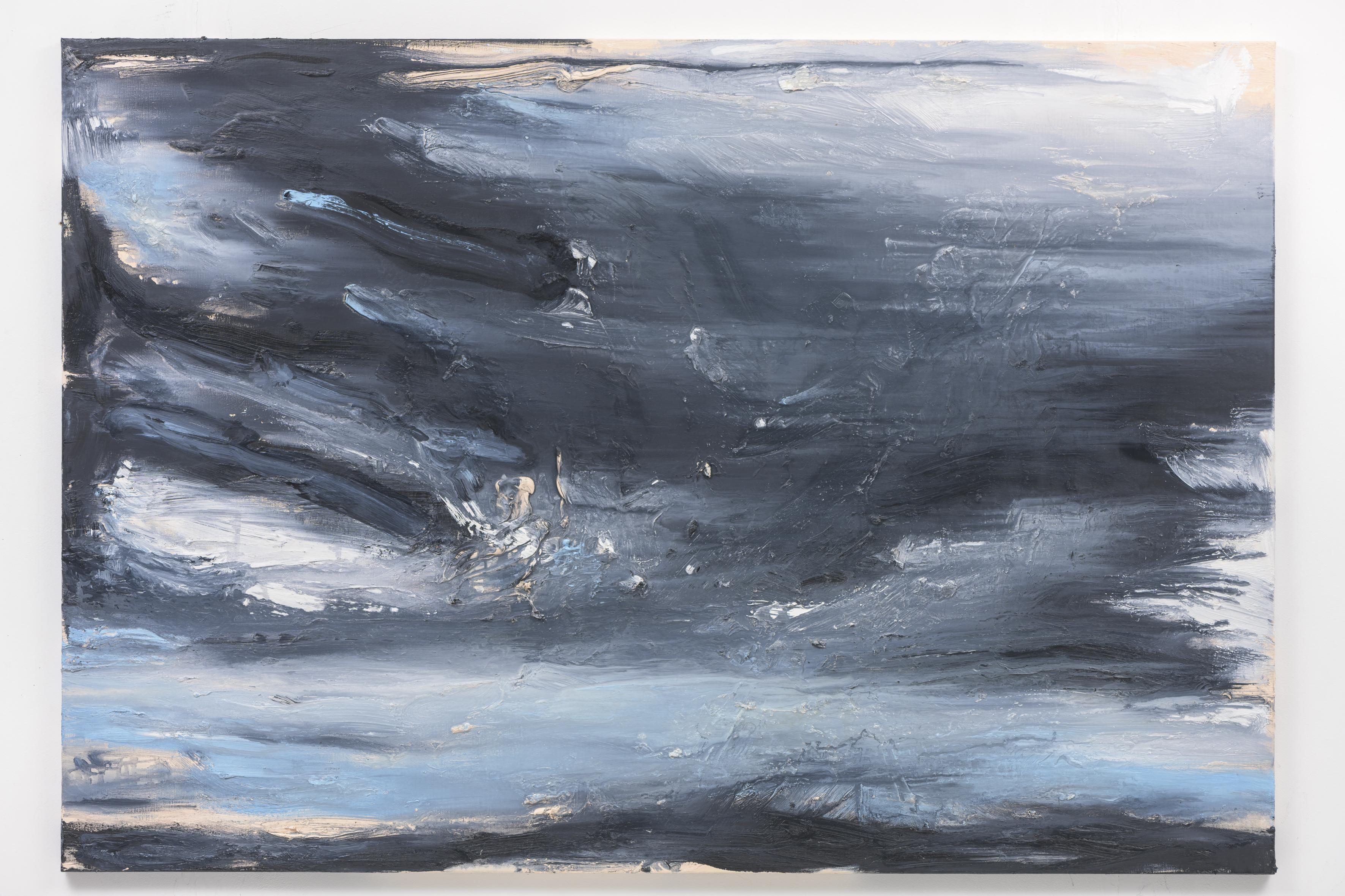 """""""Dämmerung II"""", 110 x 160 cm. oil on linen 2018 (Berlin)"""