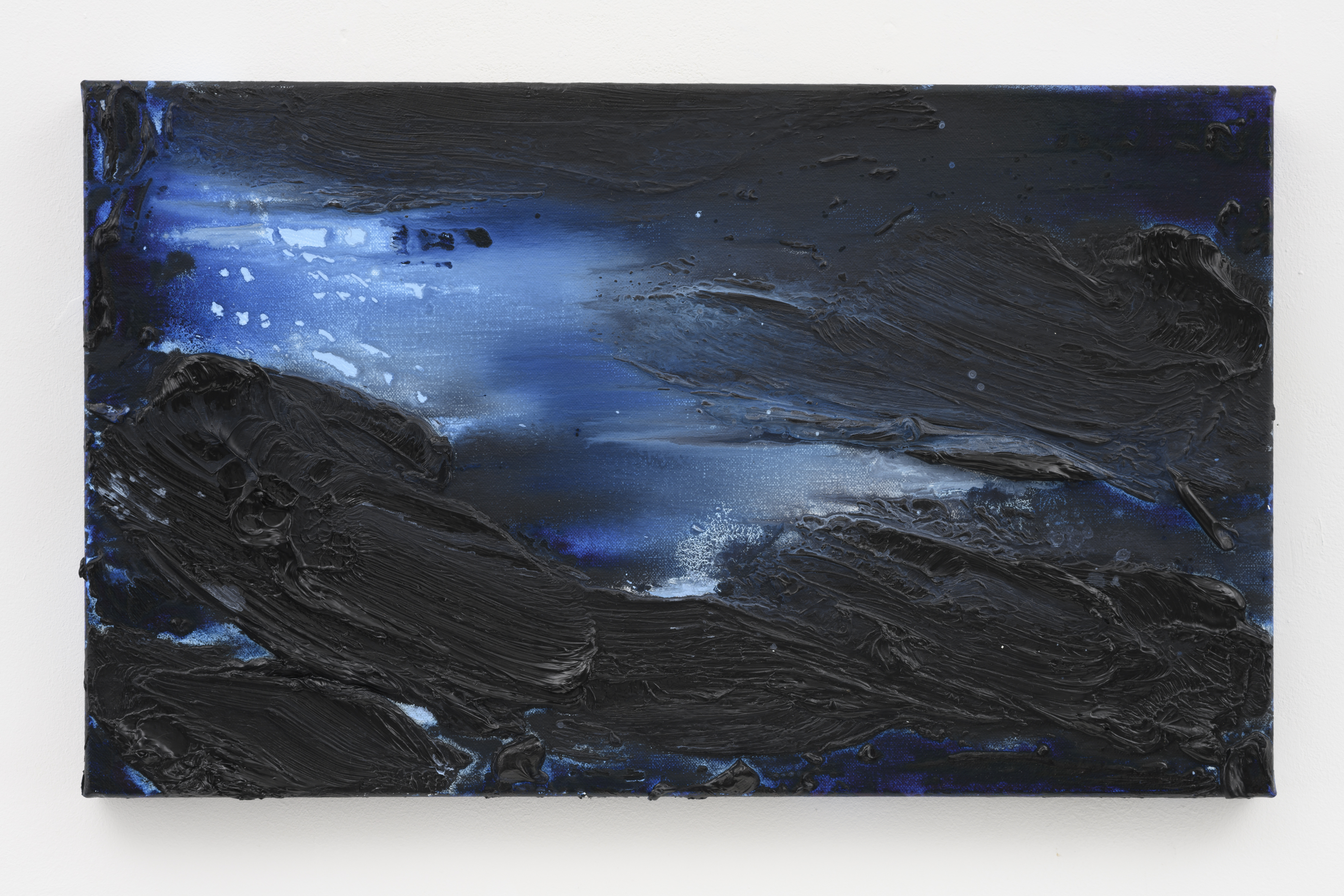 """""""My Norway, The Blues of Norway VII"""", 30 x 50 cm. oil on linen 2019 (Norway)"""