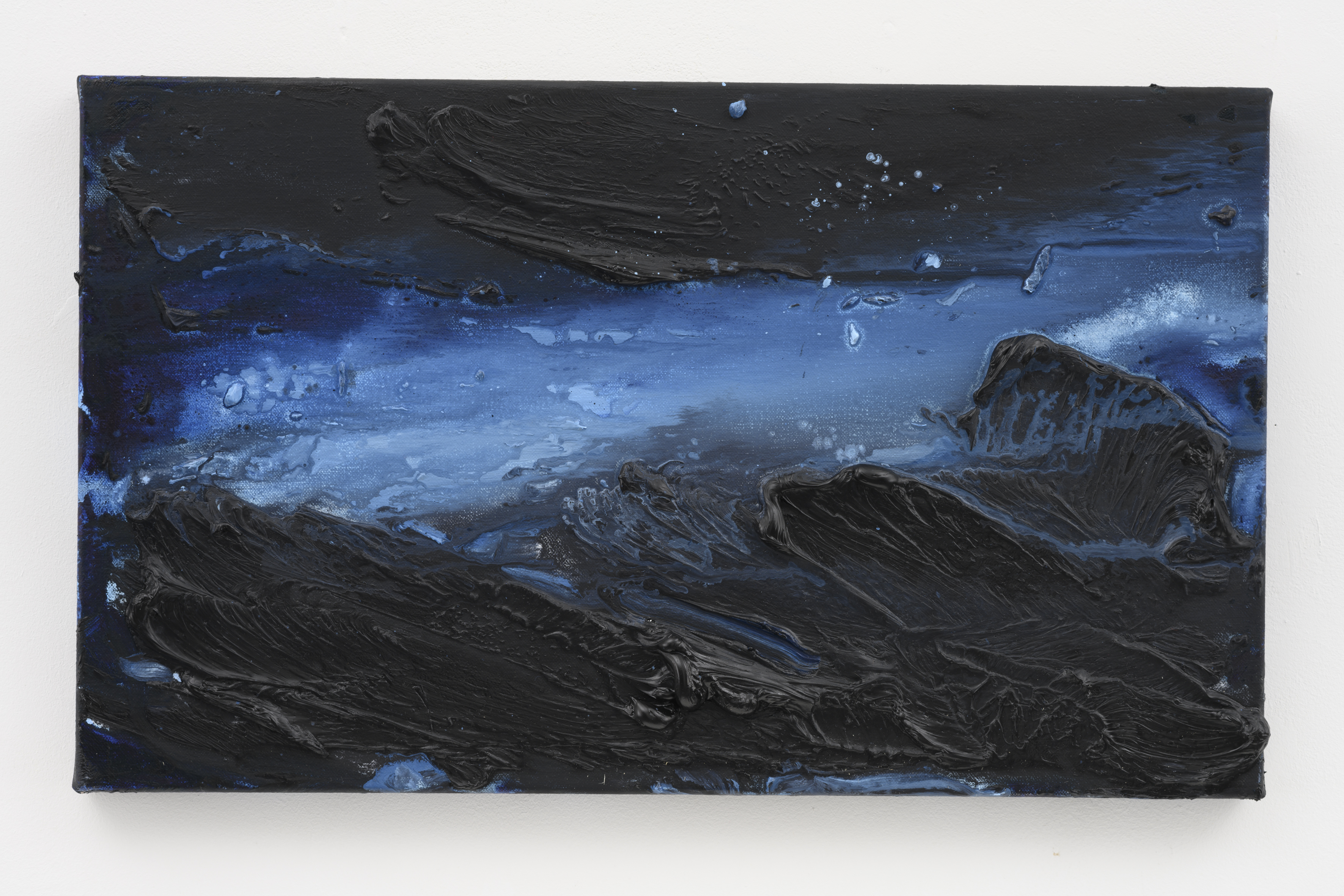 """""""My Norway, The Blues of Norway IV"""", 30 x 50 cm. oil on linen 2019 (Norway)"""