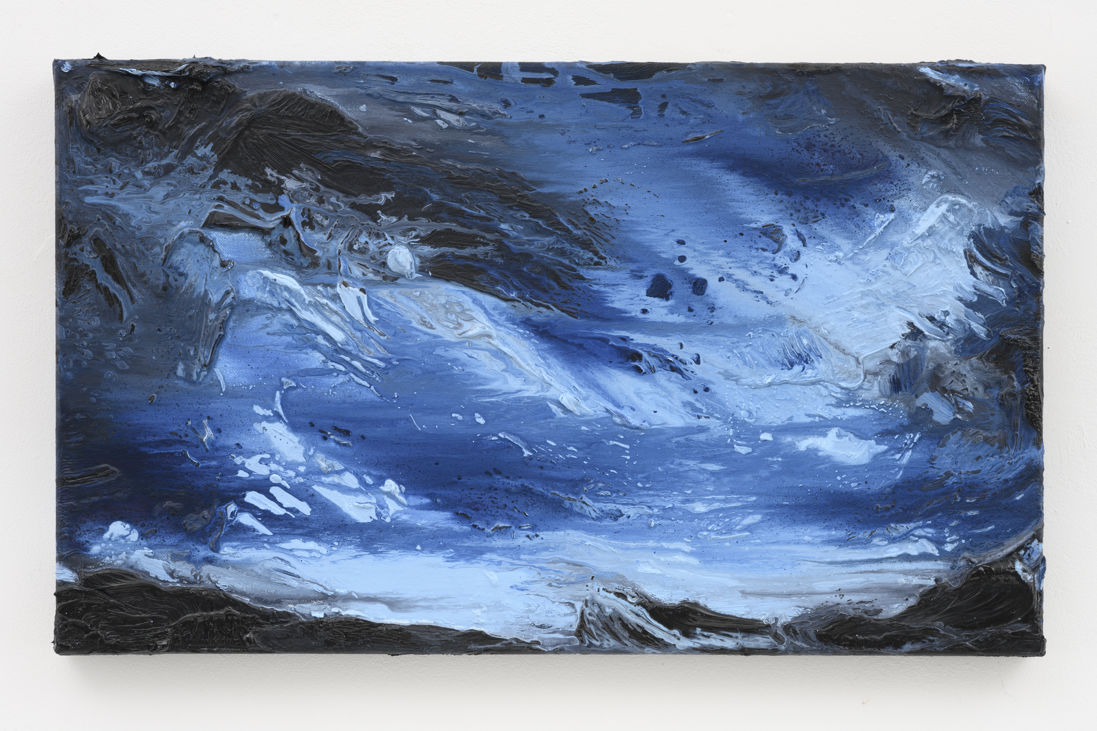 """""""My Norway, The Blues of Norway"""", 30 x 50 cm. oil on linen 2019 (Norway)"""