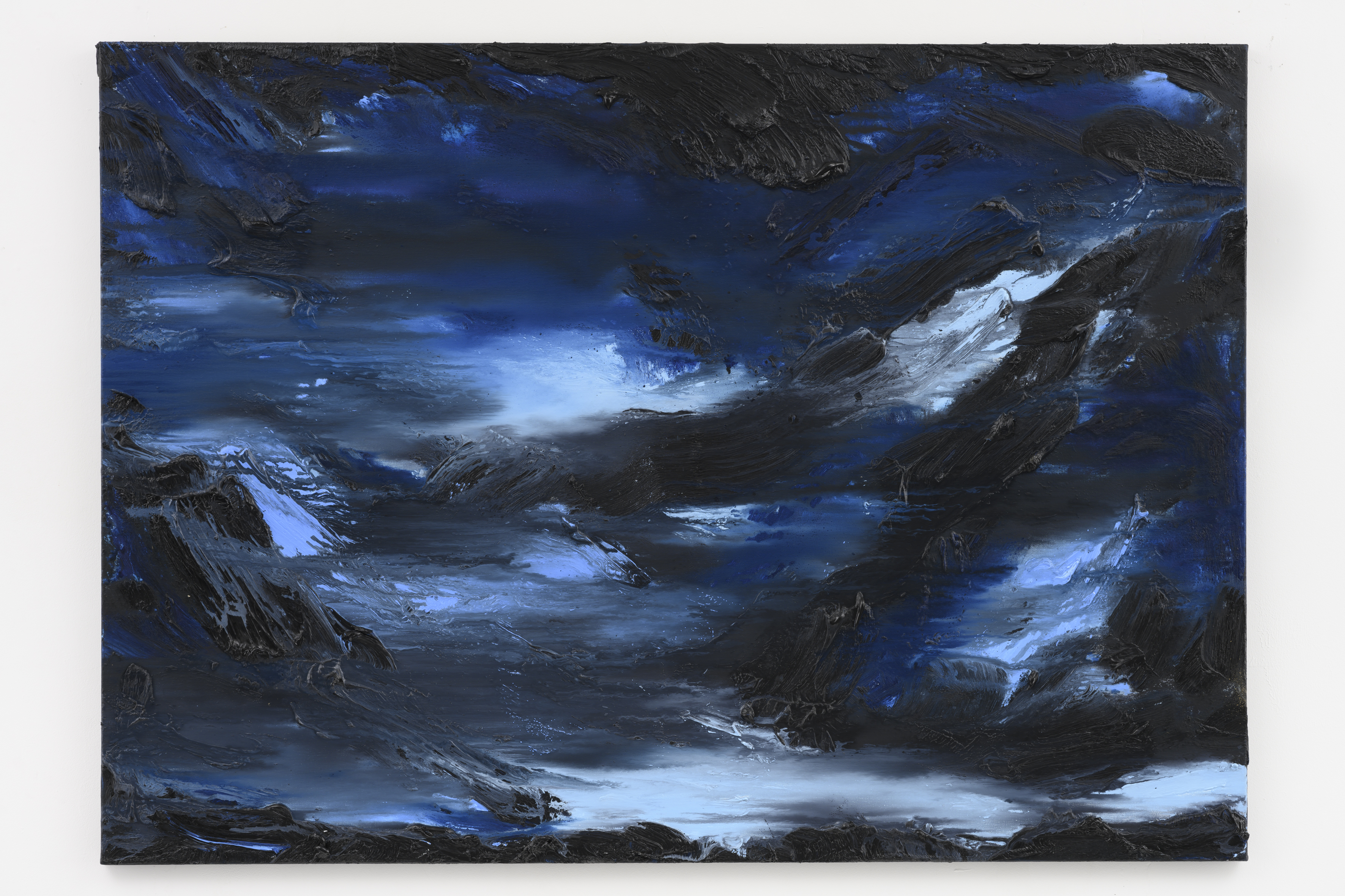 """""""Into the Blue I"""", 100 x 140 cm. oil on linen 2019 (Norway)"""