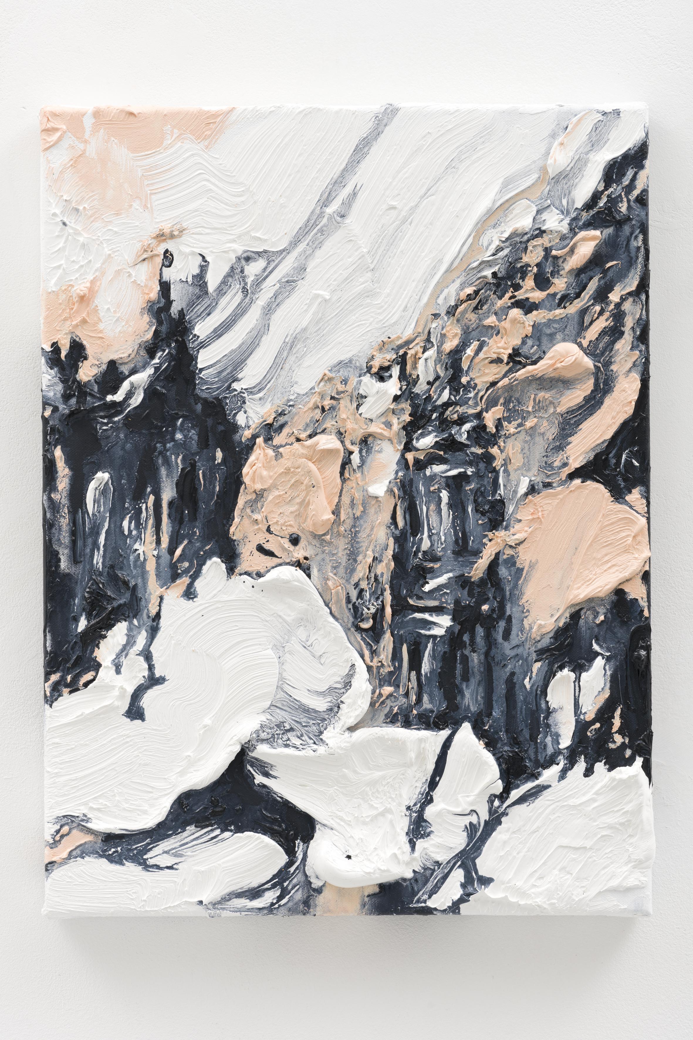 """""""No Moon in Berlin IV"""", 40 x 30 cm., oil on linen 2020 (Berlin)"""