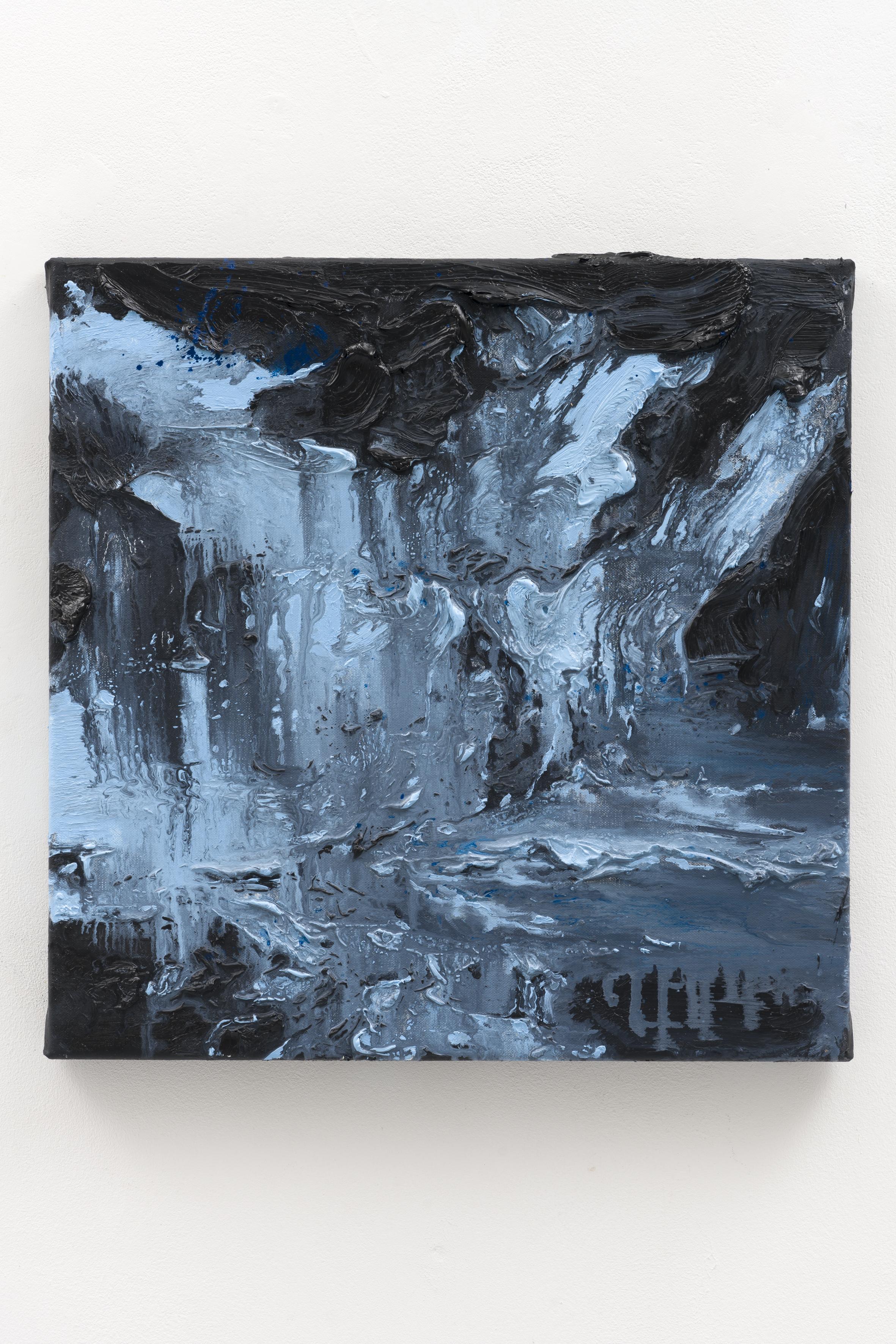 """The Blue Hour"", 40 x 40 cm., oil on linen 2020"