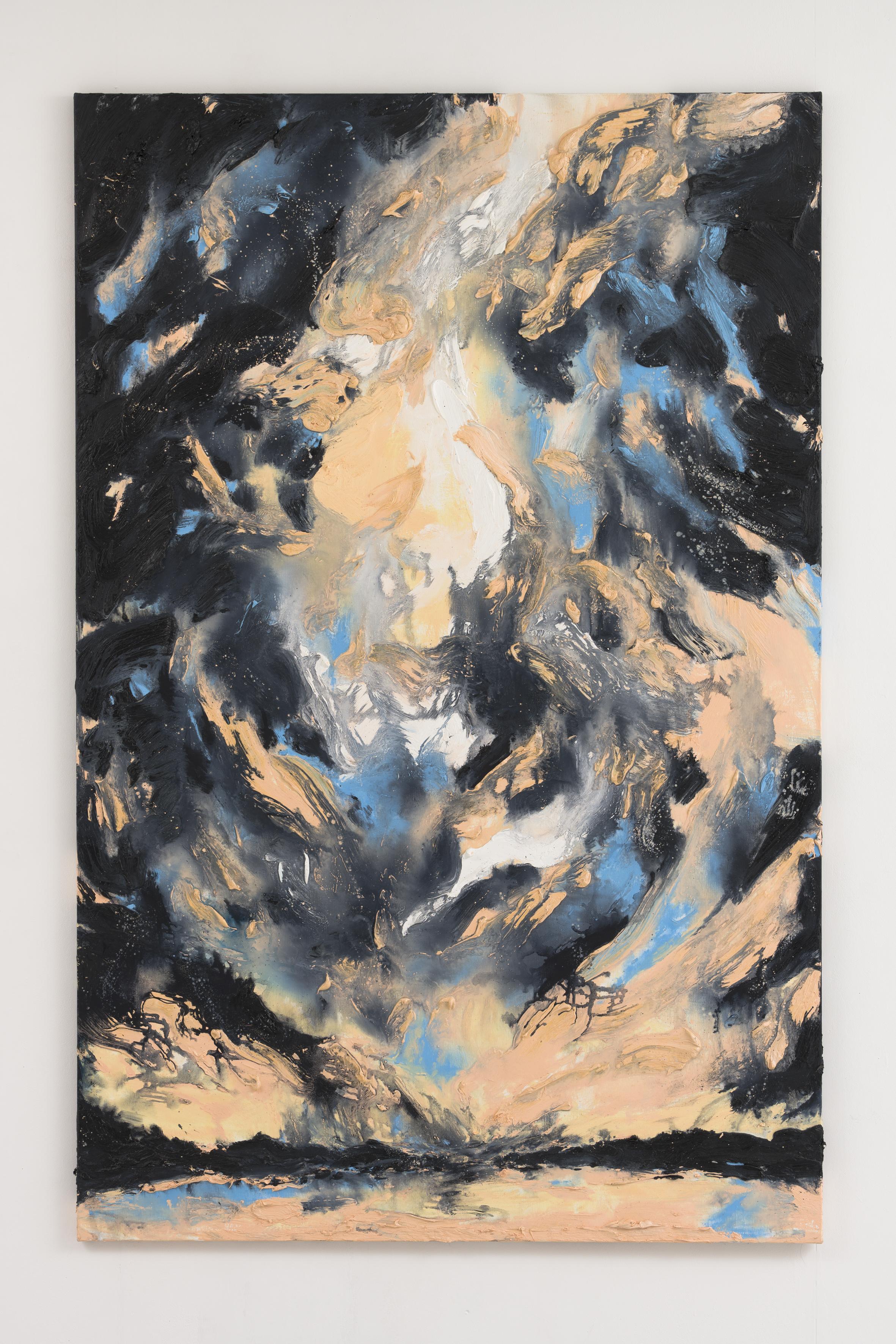 """Pfaueninsel am Havel I"", 200 x 130 cm., oil on linen 2020 (Berlin)"