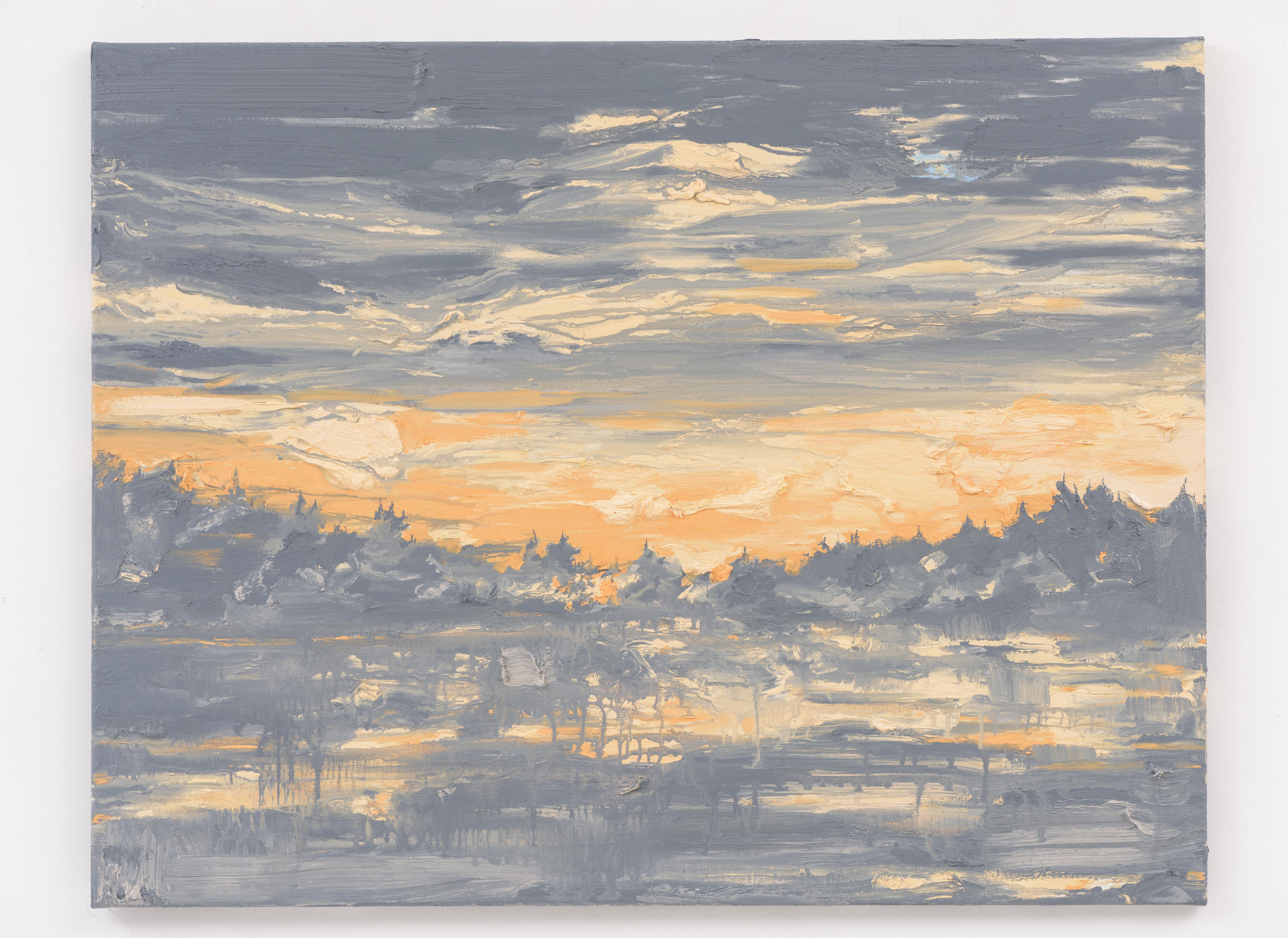"""Mirrored Waters II"" 70 x 90 cm. oil on linen 2016"