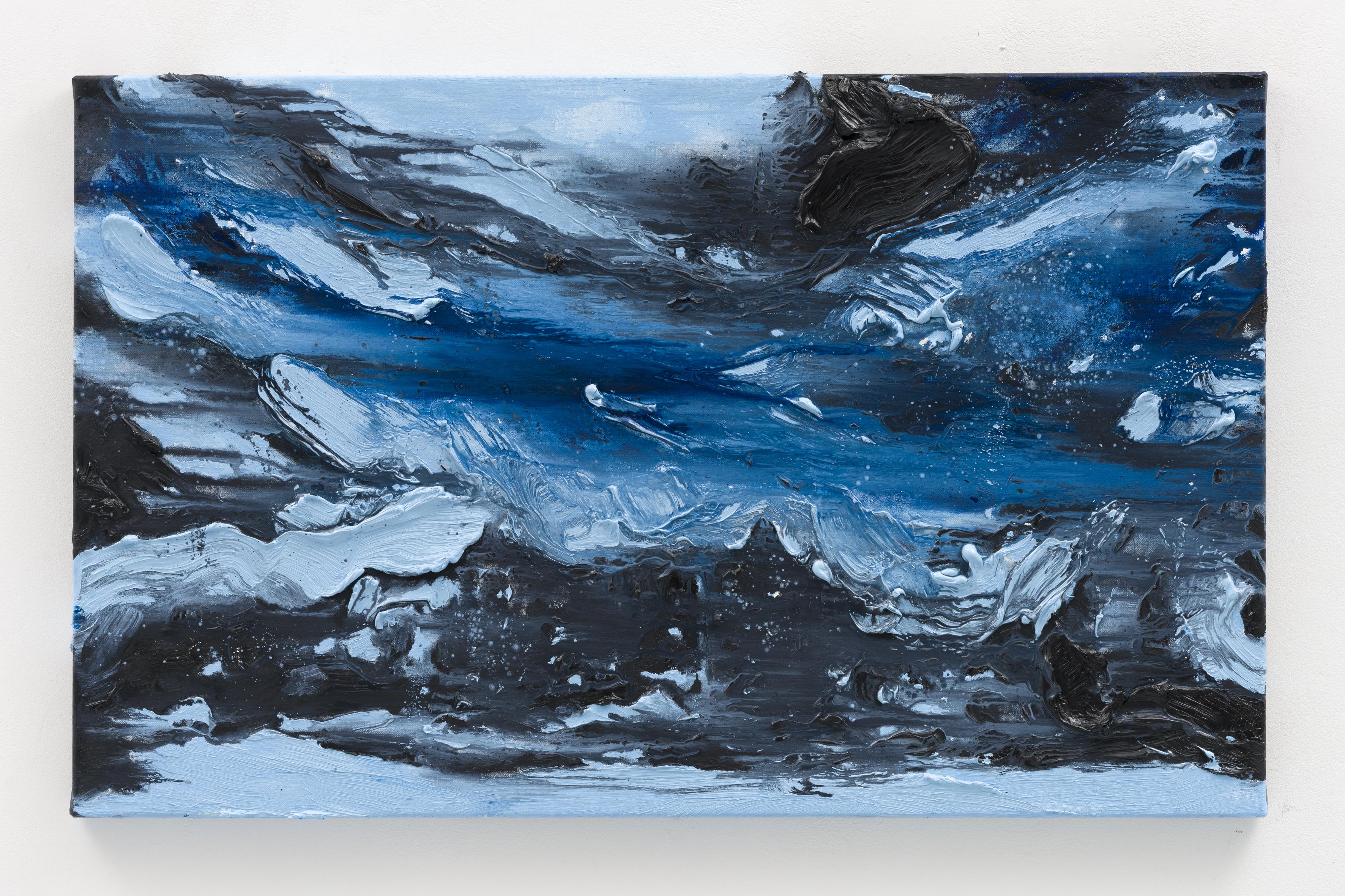 """""""Standort II"""", 50 x 80 cm., oil on linen 2020 (Berlin)"""
