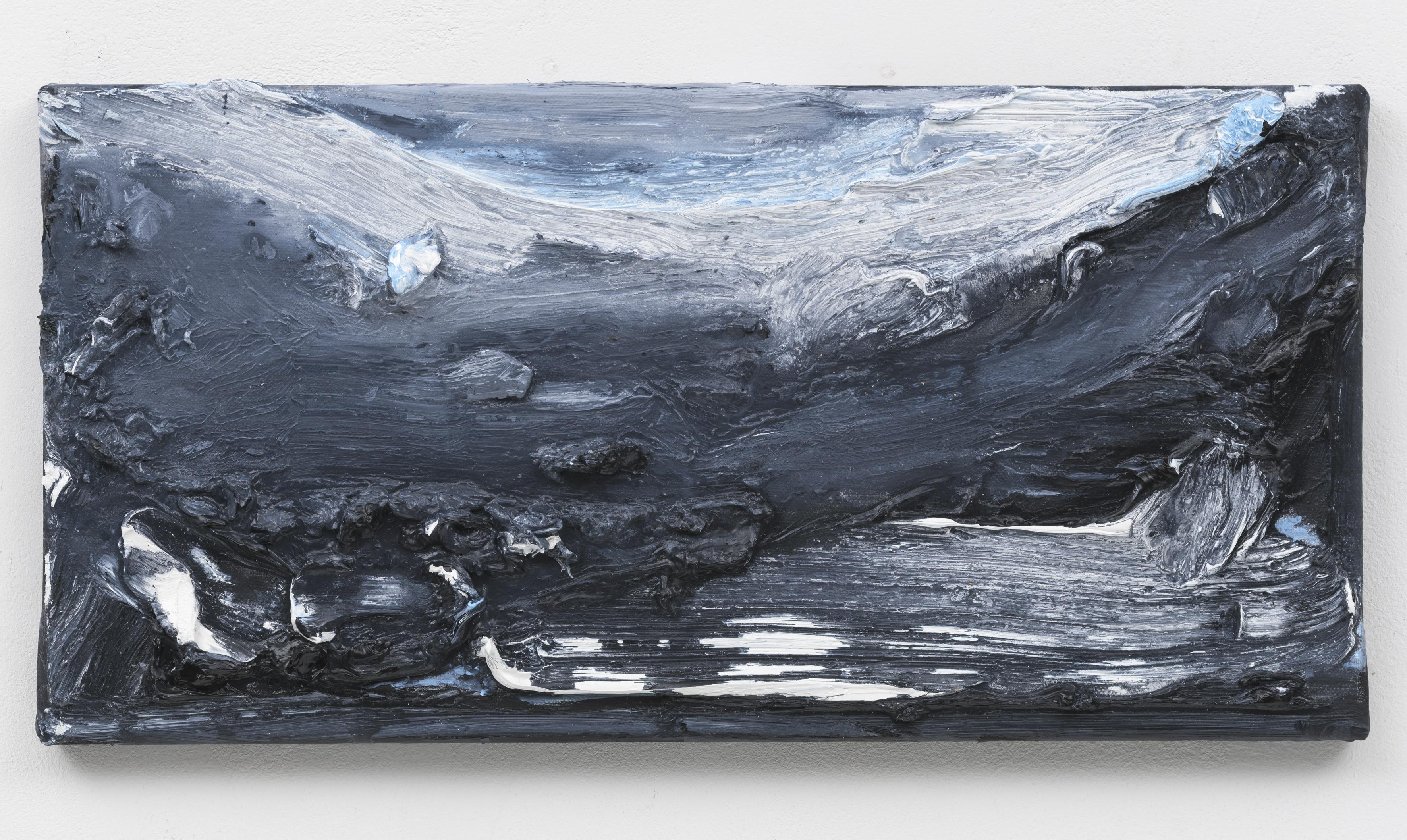 """""""Wanderung IX"""" 20 x 40 cm. oil on linen 2018 (Berlin)"""