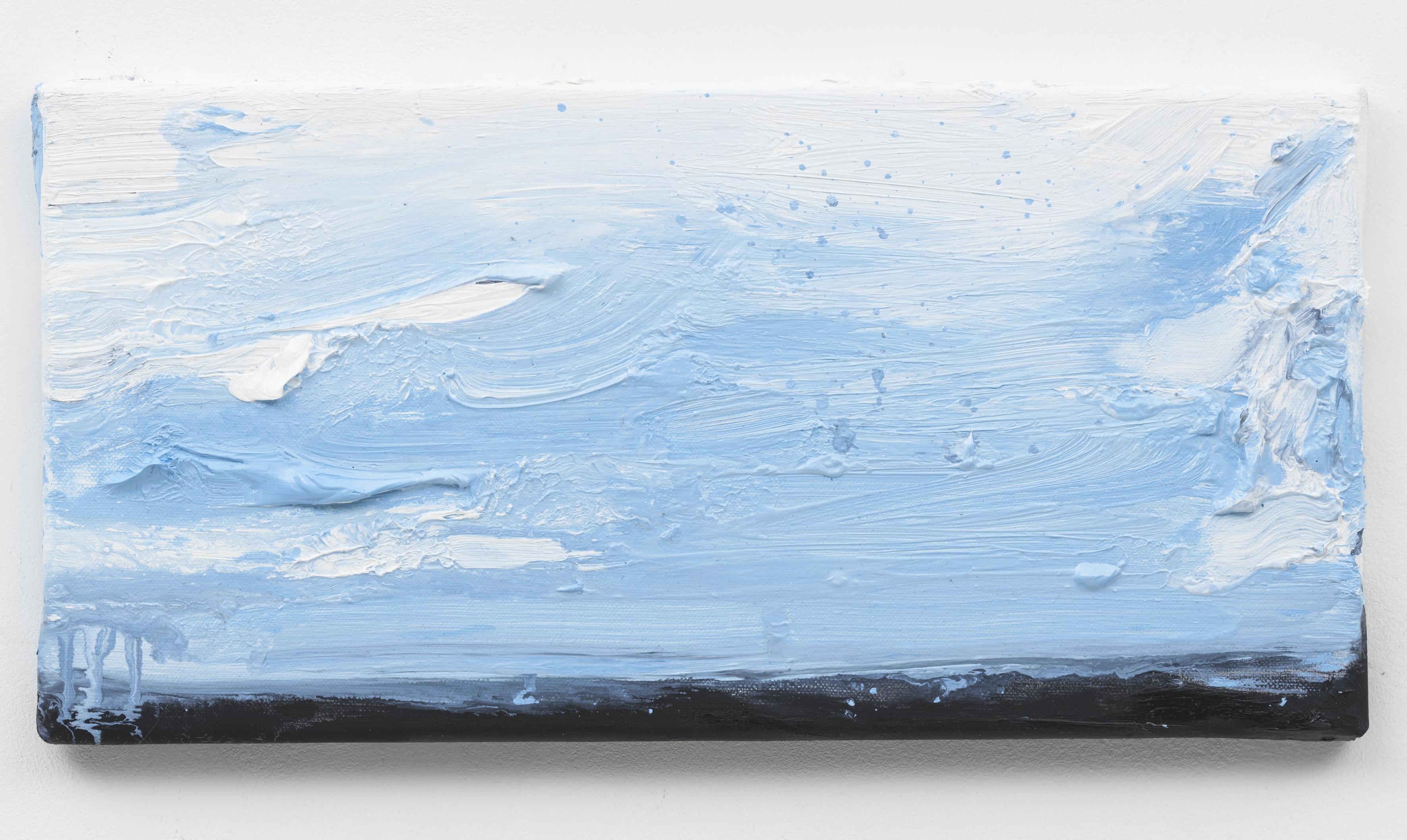 """Wanderung VIII, Berlin Suite"" 20 x 40 cm. oil on linen 2018 (Special Edition., Berlin)"