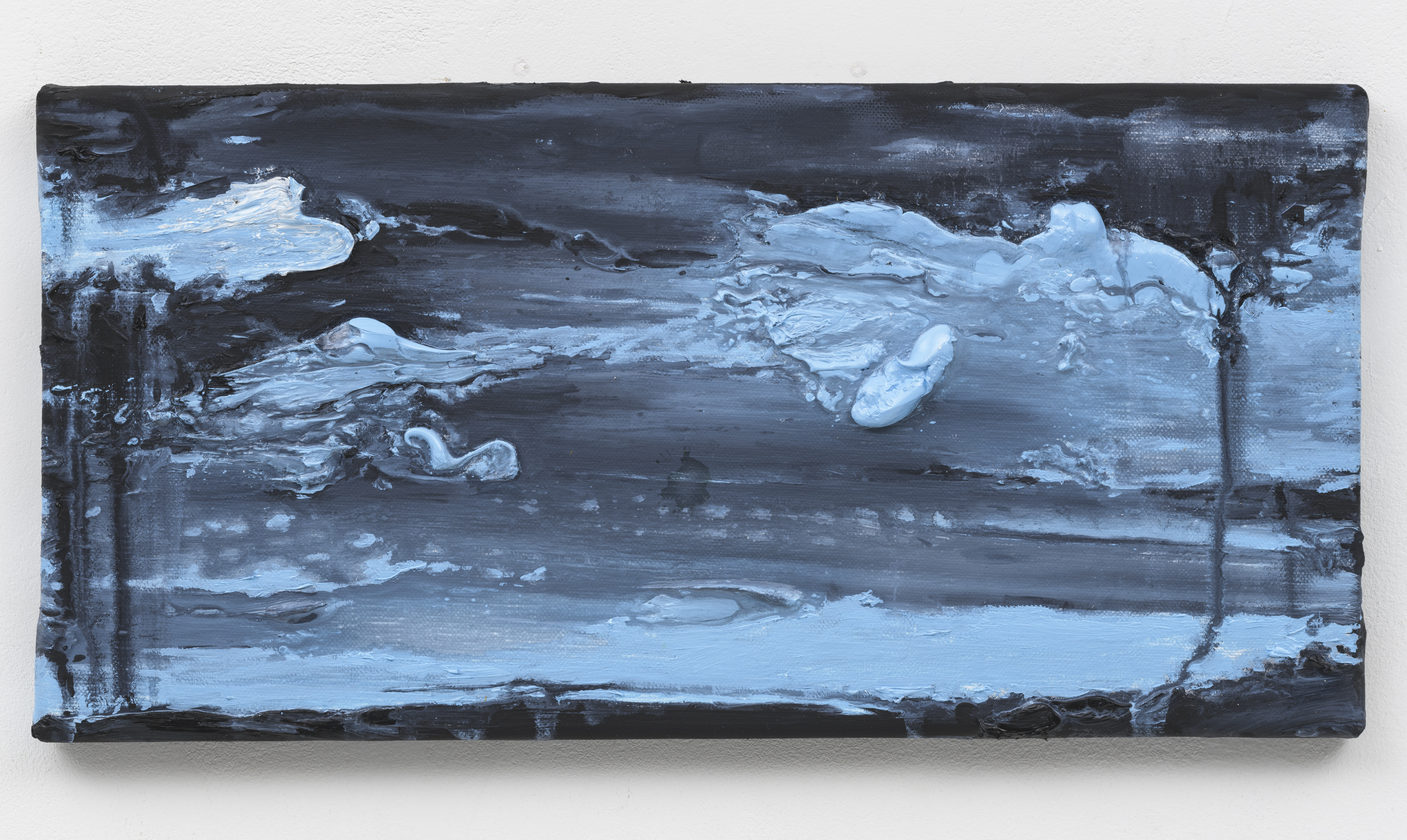 """""""Wanderung VII"""" 20 x 40 cm. oil on linen 2018 (Berlin)"""