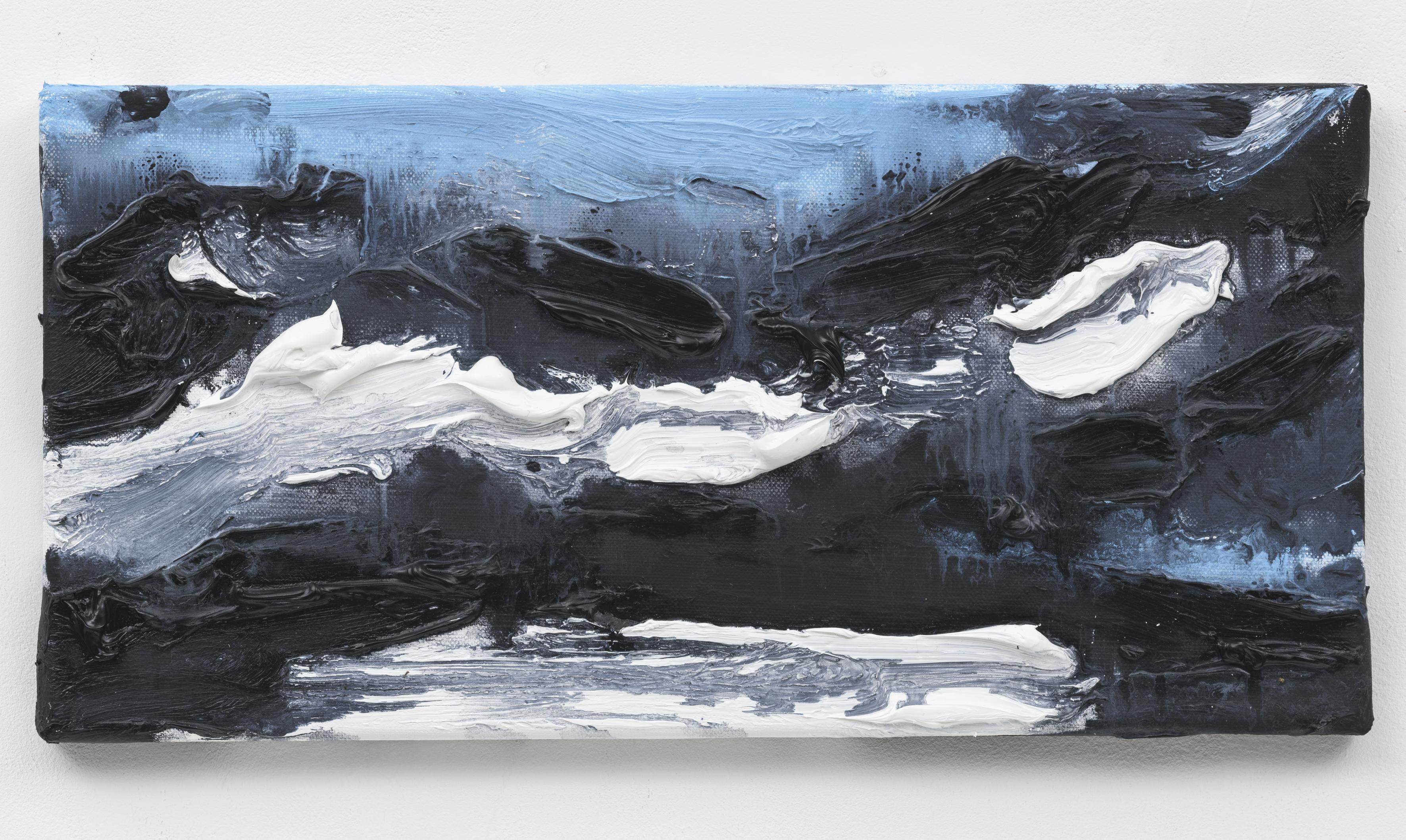 """Wanderung VI, Berlin Suite"" 20 x 40 cm. oil on linen 2018 (Special Edition, Berlin)"