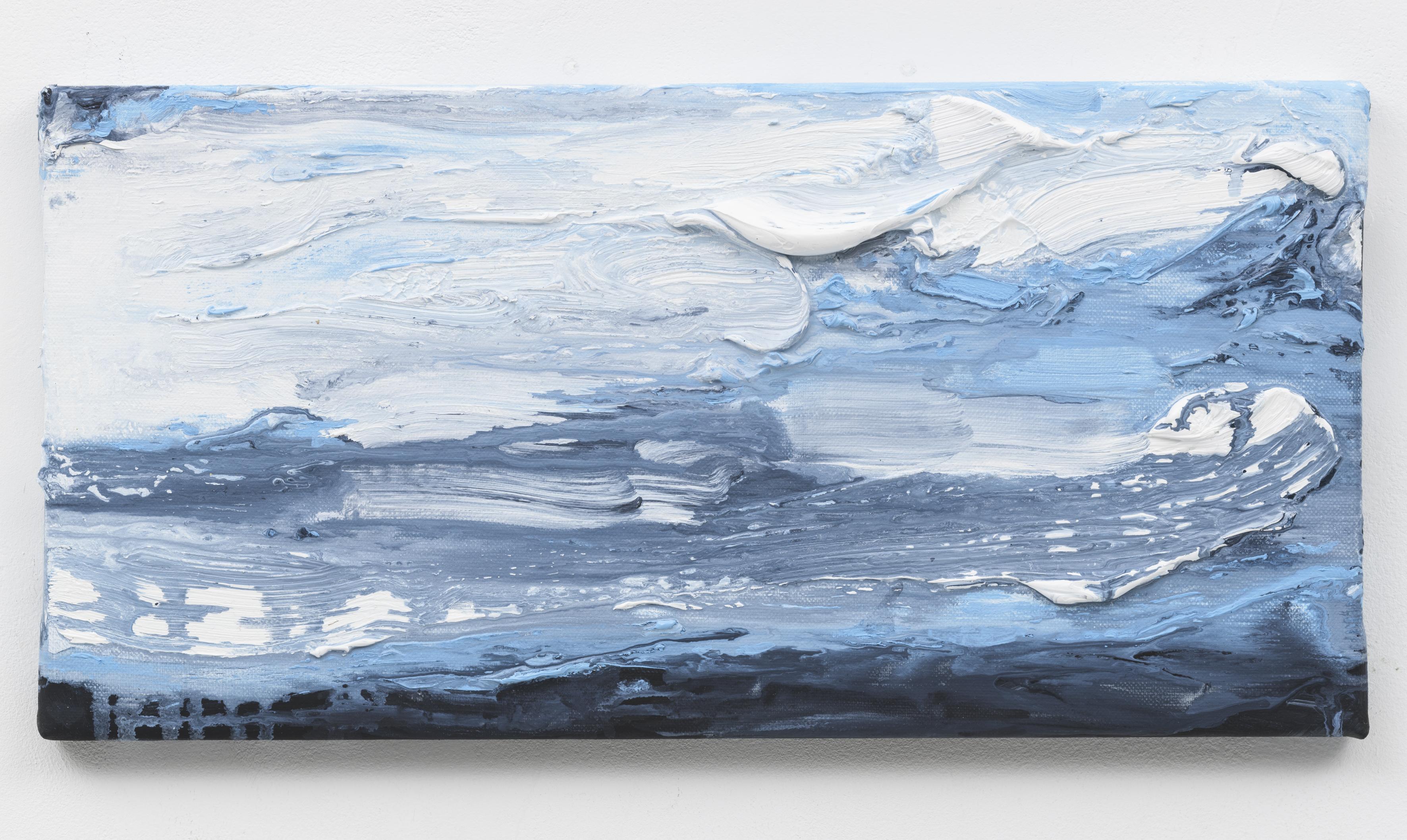 """""""Wanderung X"""" 20 x 40 cm. oil on linen 2018 (Berlin)"""