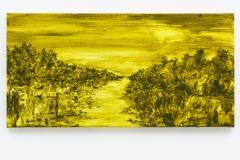 """""""Paisagem Dourada"""" 40 x 80 cm. oil on linen 2015"""