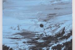 """Black Moon, Blue Sky"" 70 x 50 cm. oil on linen 2016"