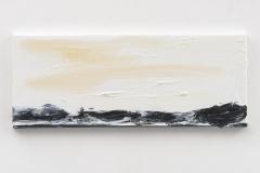 """Resonating Landscapes V"" 20 x 50 cm. oil on linen 2017"