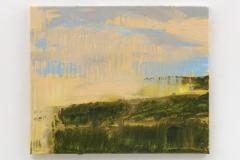 """""""Coloured Fields II"""" 50 x 60 cm. oil on linen 2017"""