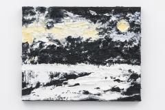 """""""Rode Zon"""", 40 x 50 cm., oil on linen 2017 (Van Gogh)"""