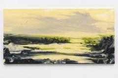 """""""Oude Buisse Heide I"""" 70 x 140 cm. oil on linen 2017"""