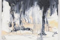 """""""Der Brand V"""", 30 x 40 cm. oil on linen 2018 (Berlin)"""