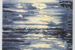 """Sun Down II"" 40 x 30 cm. oil on linen 2018 (Portugal)"