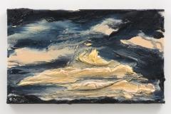 """Night Rises, Turrells Partituur II"", 30 x 50 cm., oil on linen 2020 (Berlin)"