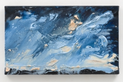 """Night Rises, Turrells Partituur V"", 30 x 50 cm., oil on linen 2020 (Berlin)"